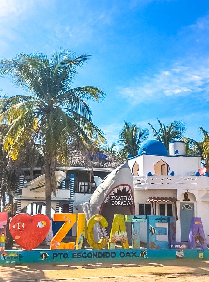 Zicatela Beach in Puerto Escondido