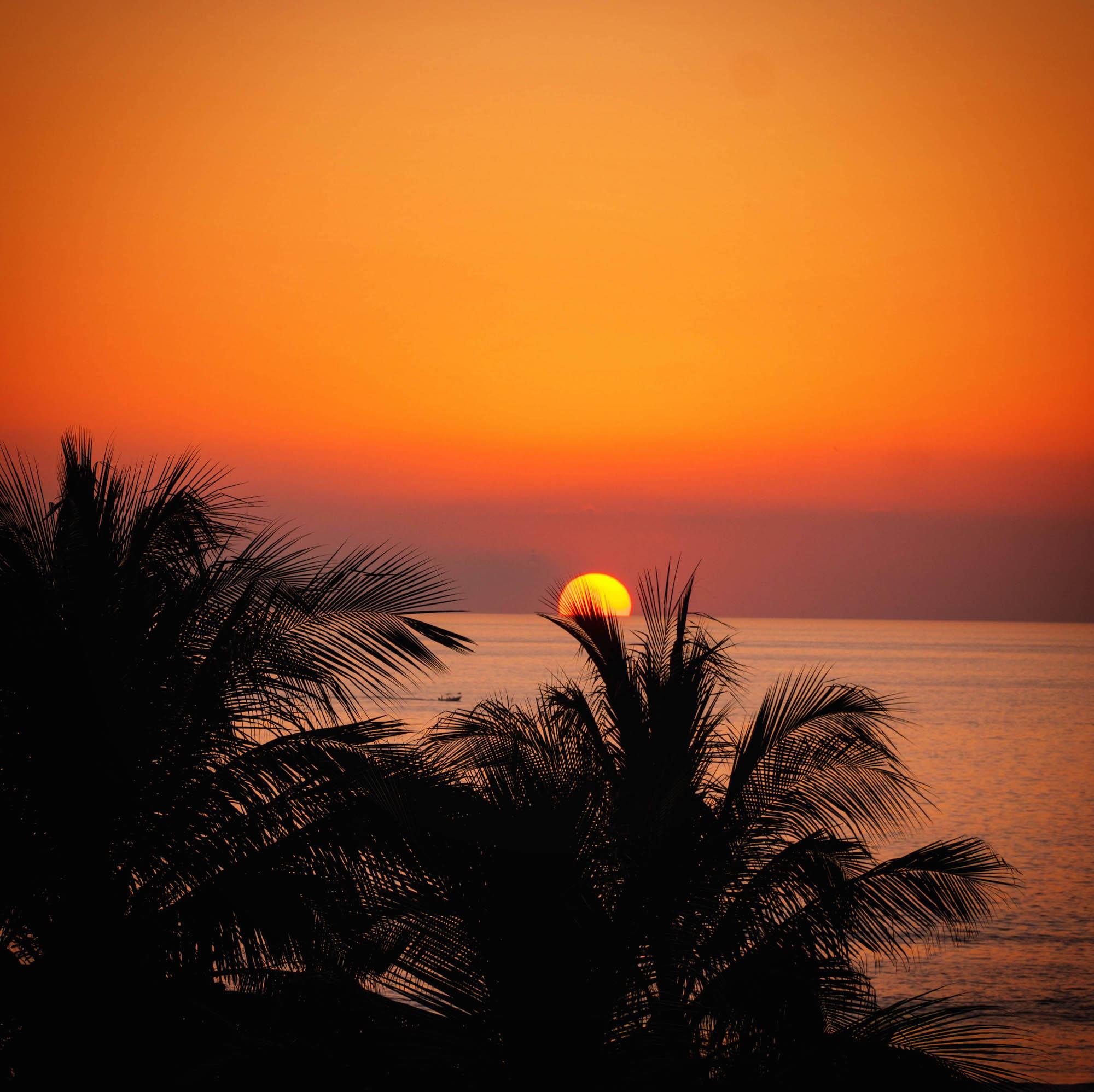 Oaxaca coastline sunset