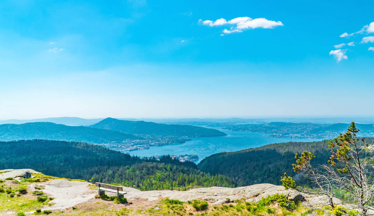 Overlook atop Bergen, Norway