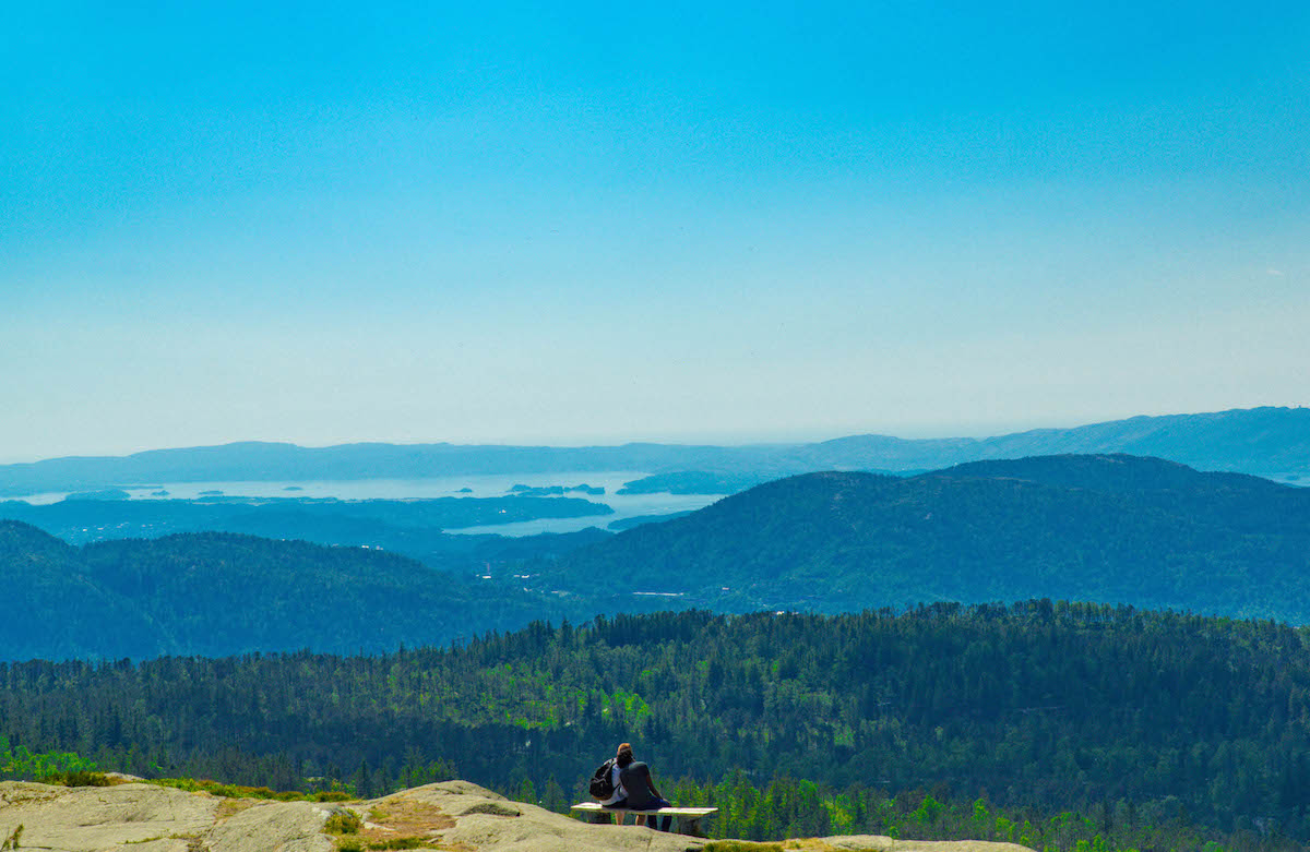 Hiking overlook in Bergen, Norway