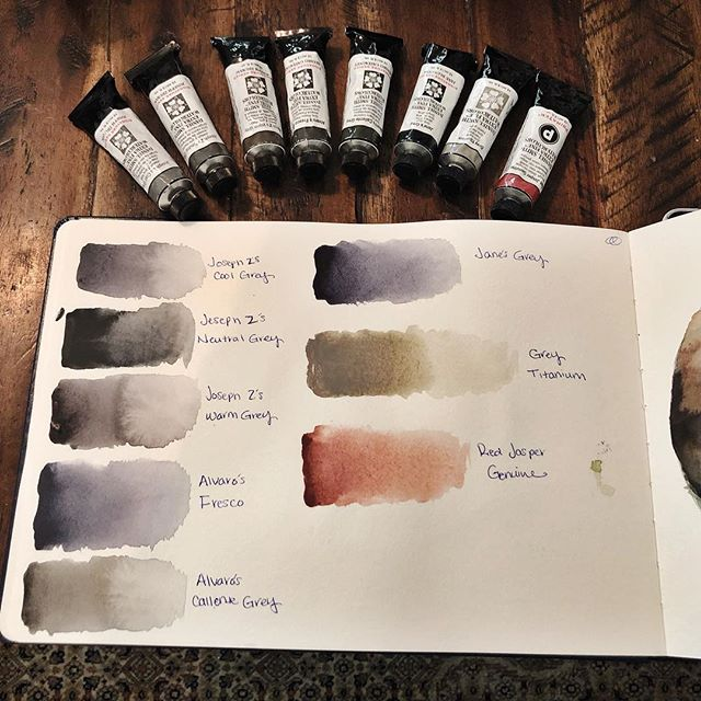 Testing samples of Daniel Smiths new greys and their beautiful Red Jasper. Color studies to come soon.
