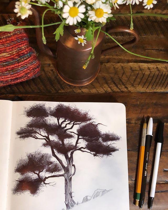 Scratching in the sketchbook