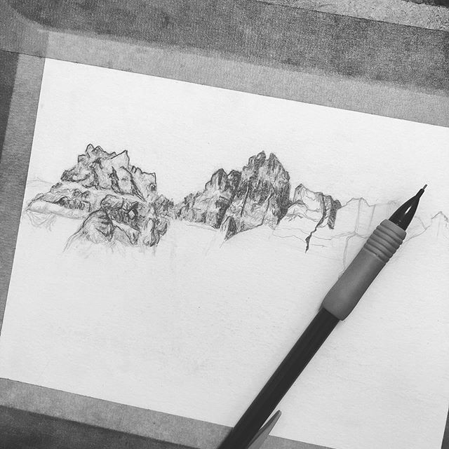 Practicing my tiny lines today. 🔎  I've updated my website! Now you can buy prints in a few different sizes, and you see what originals are still available. Go give it a peep, there's a link in my bio 👀  #austinartists #contracommon #texasartist #bigbendnps #westtexas #pencildrawings #contemporarylandscape #atxart #austinart #workingonmyinstagame