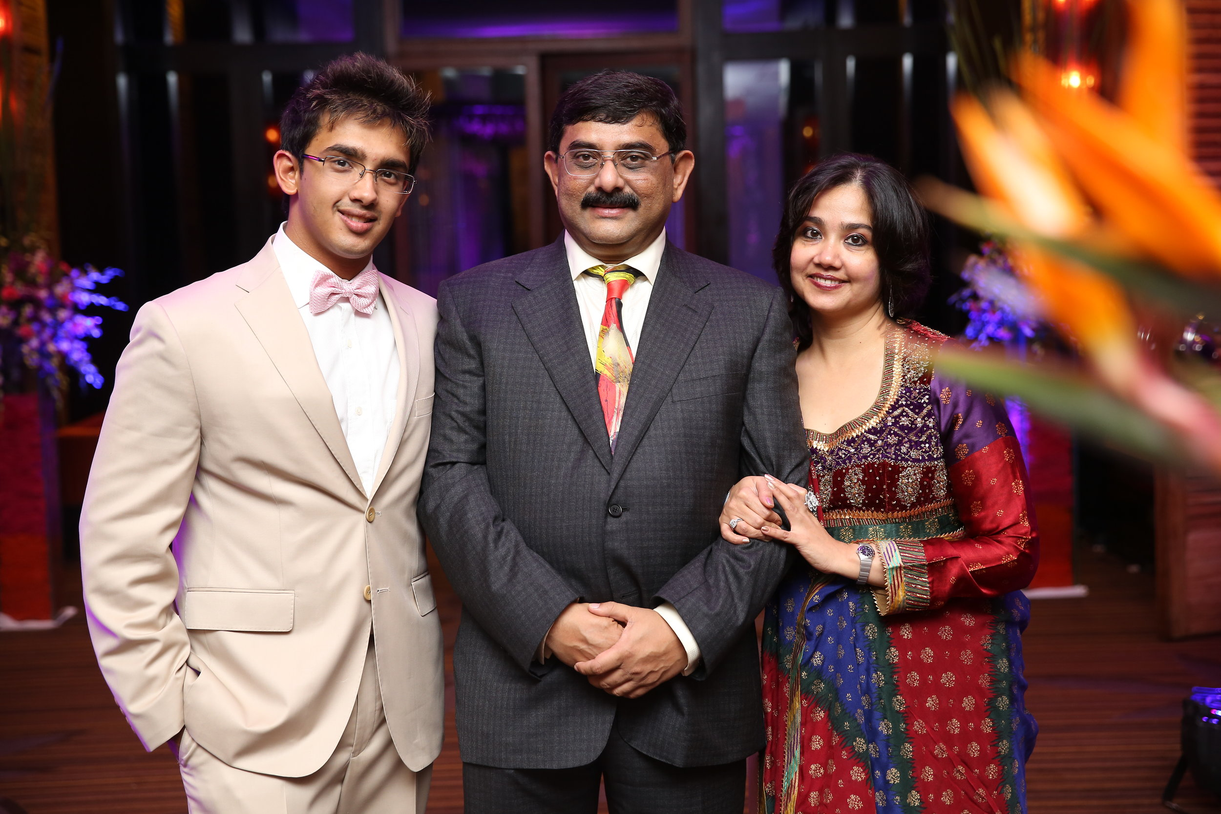The Founders of AAJ Global Foundation(Left to Right) : Anannya Sengupta, Aparup Sengupta, Jaya Sengupta
