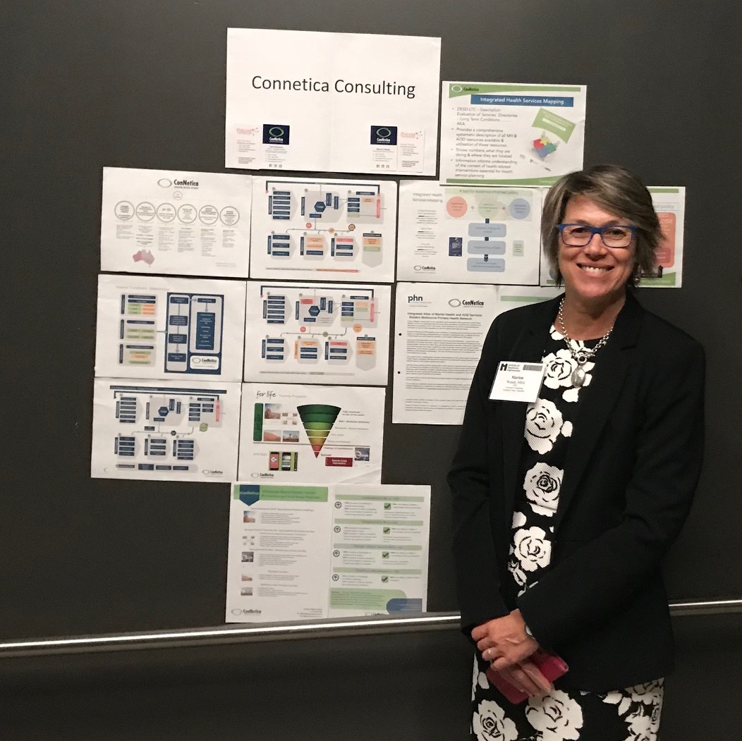 ConNetica Director and CEO Marion Wands presenting our current suite of consulting and project initiatives