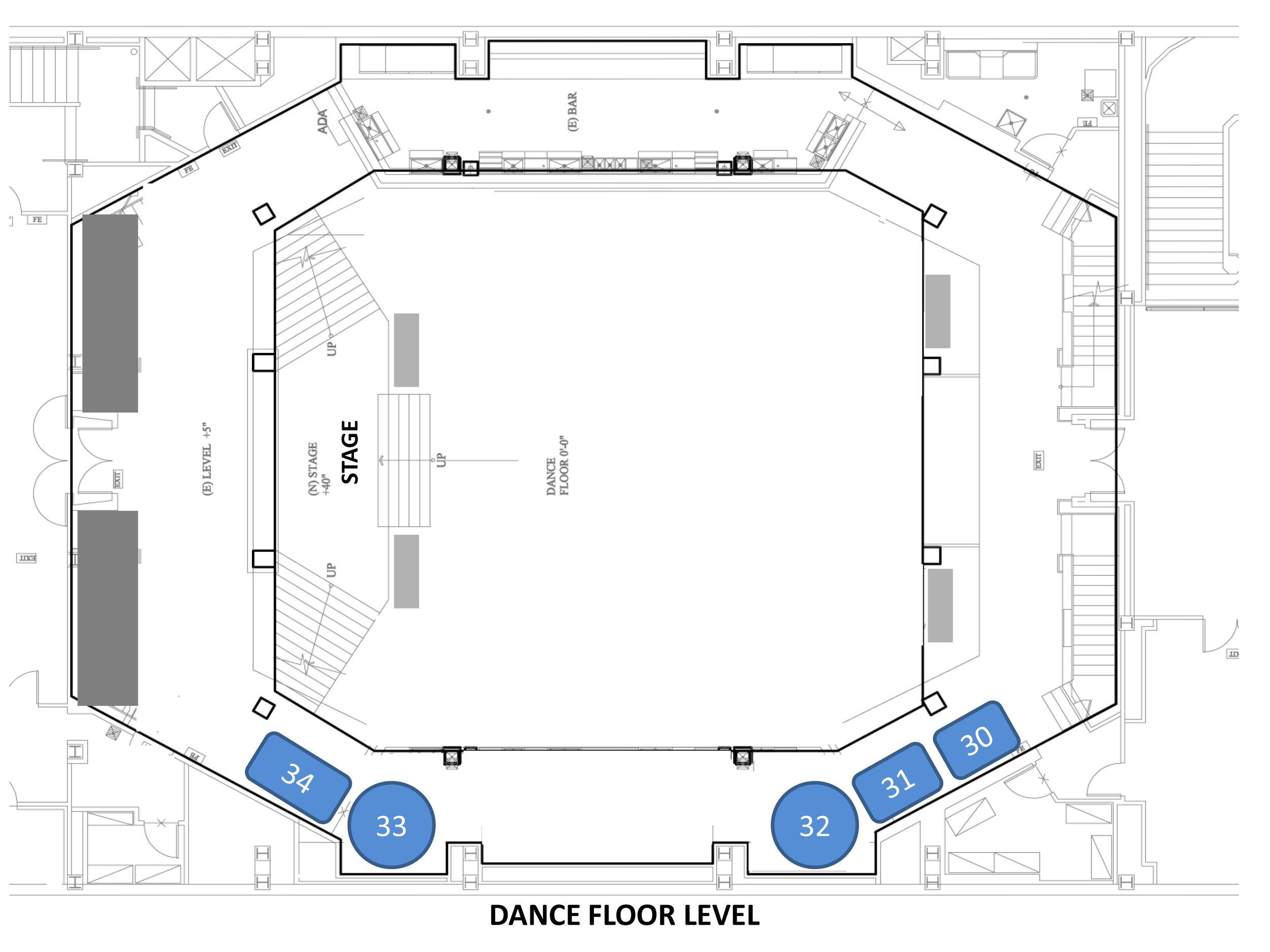 EXLA Dance Floor Tables