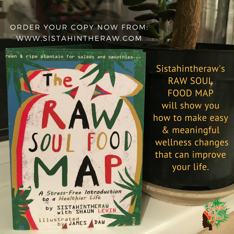 Sistahintheraw's Raw Soul Food Writing Map