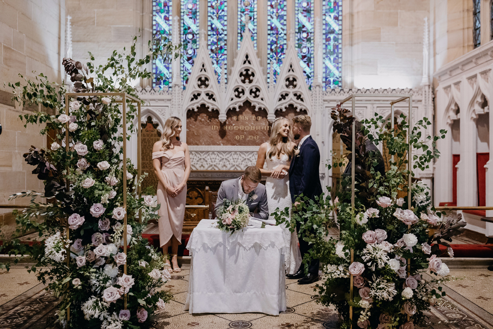 Ceremony   Pew posies: from $30  Altar arrangements: from $250  Arbors: Small arrangements: from $300  Large arrangements: from $500  Full arbor: from $1000