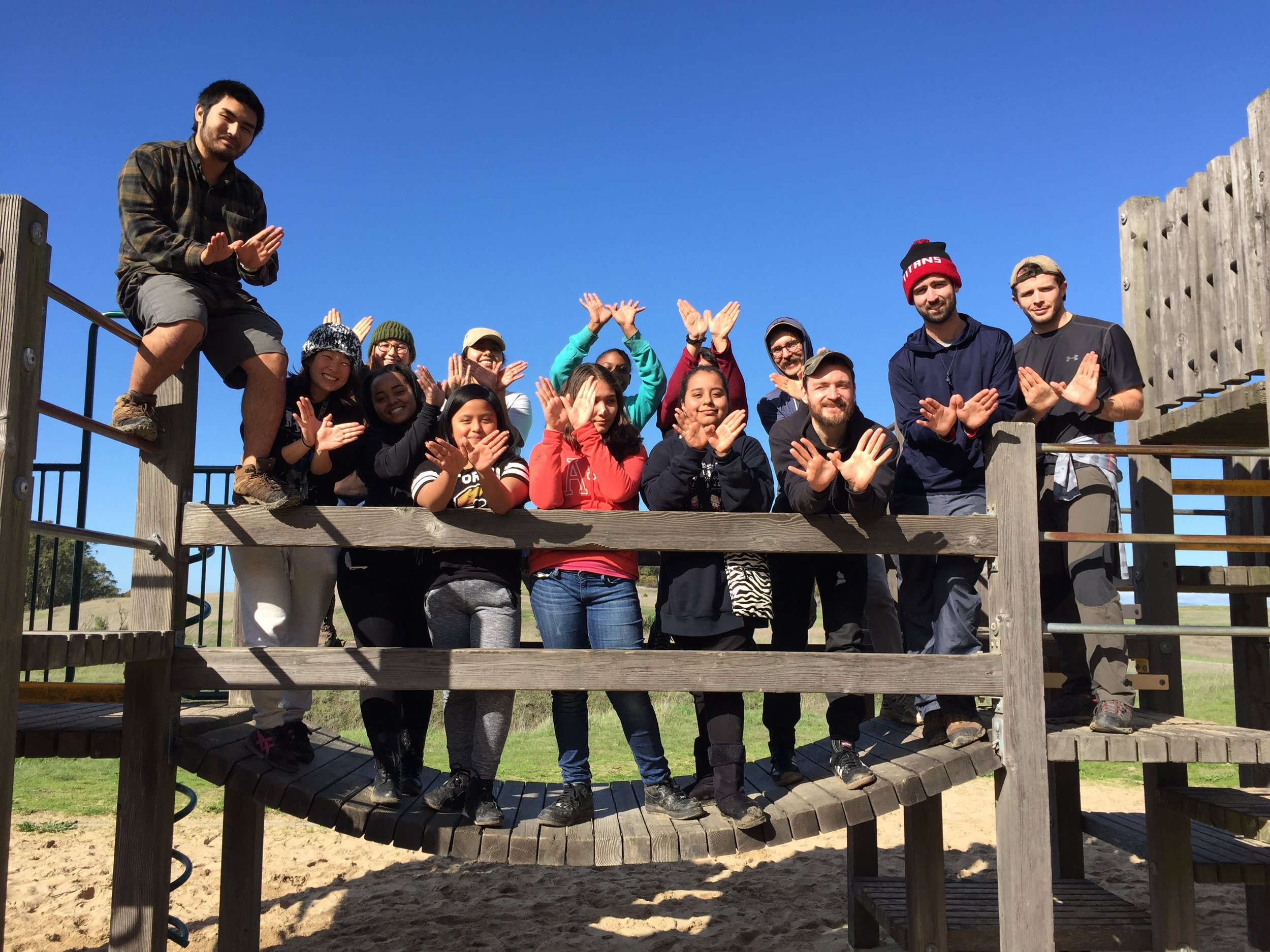 Pinole Regional Shoreline Park //  C ampers reflect on their year-long goals and go on a five-mile day hike