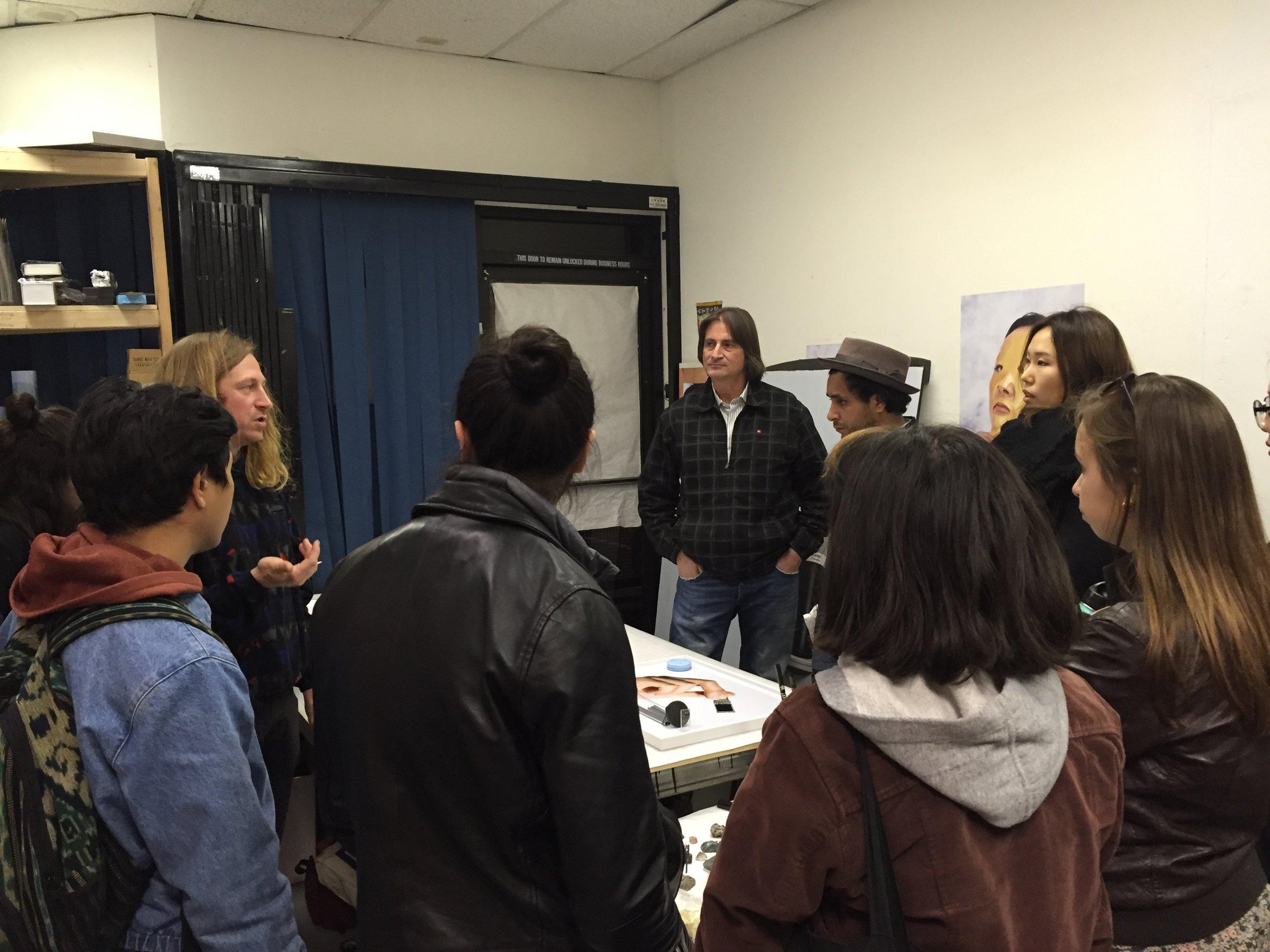STUDIO VISIT with artist, Ian James of  Metro PCS