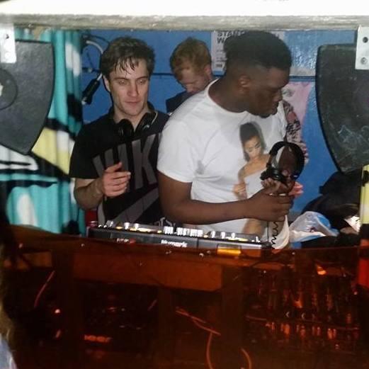 The LoveShy DJs go in.