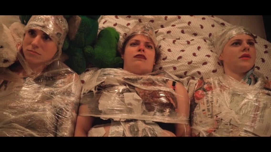 A still from Plunge Theatre short 'Cling Film'.