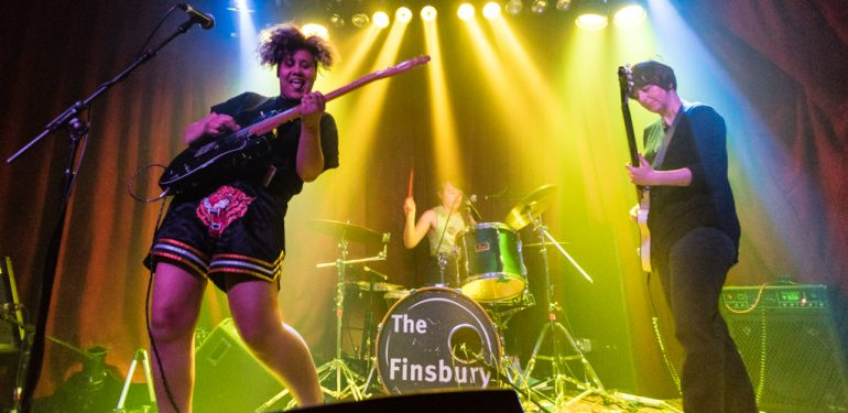 Trash Kit playing at Get In Her Ears Live at The Finsbury. Credit: Jon Mo