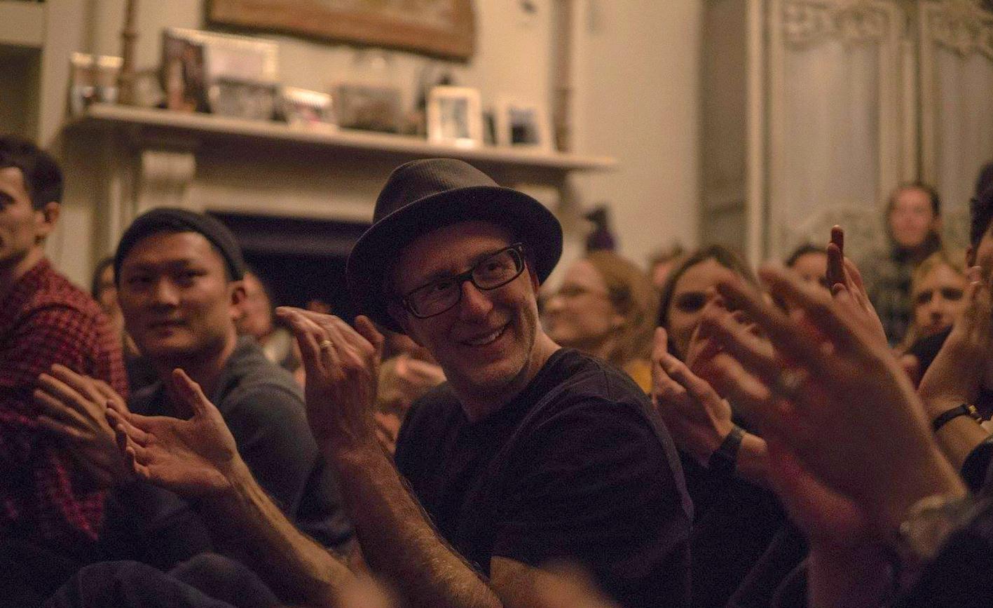 Rafe Offer at a Sofar Sounds gig. Photo: Ryan Bound