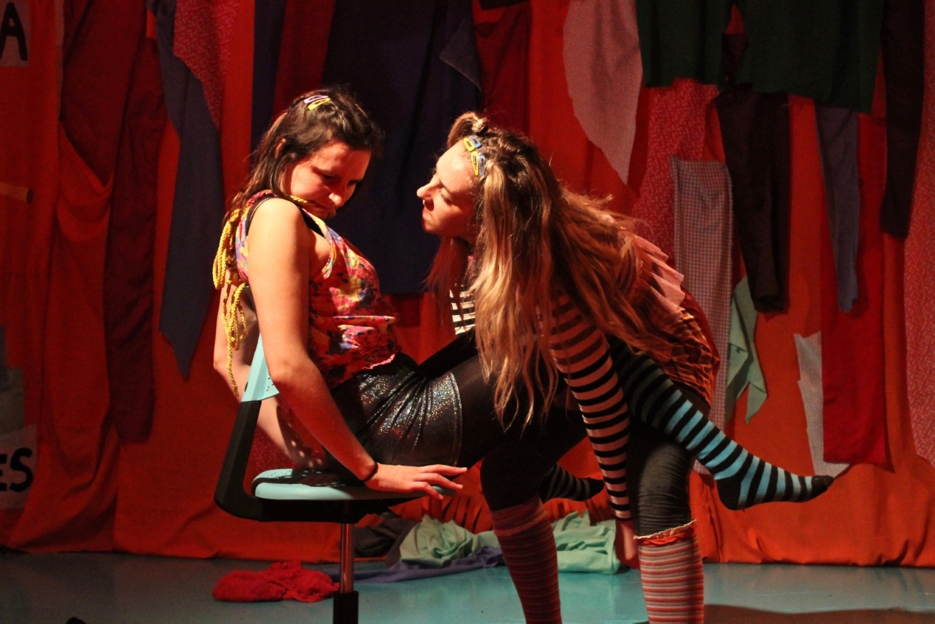 Camille Dawson and Serena Ramsey as Tilly and Inga in Girl World