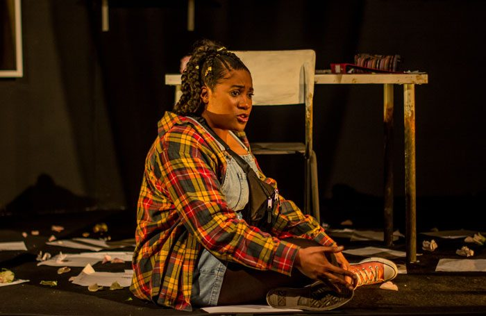 Emma Dennis-Edwards in Funeral Flowers at Bunker Theatre