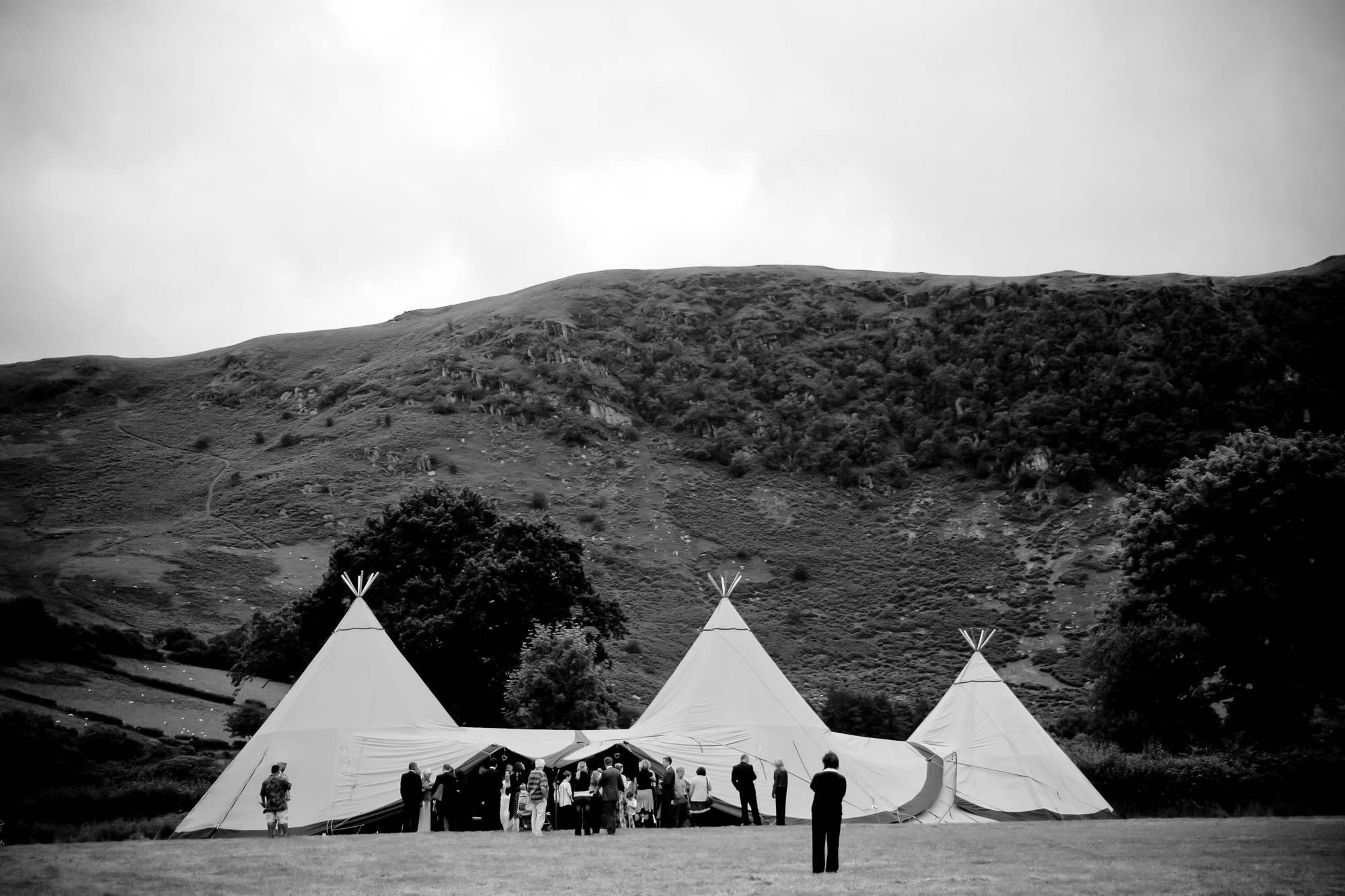 Tipi being used for a wedding