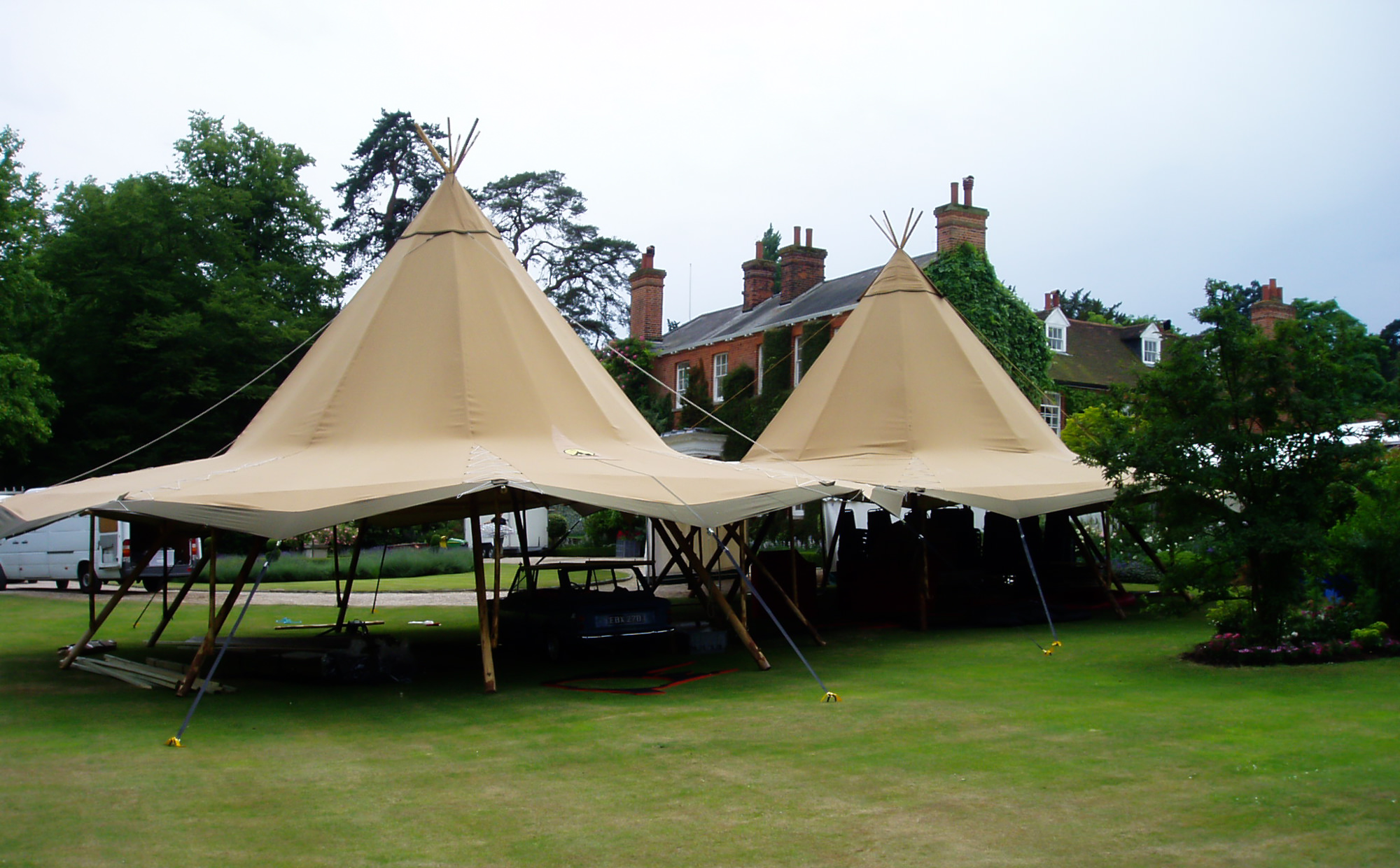Copy of Tipi with the sides up