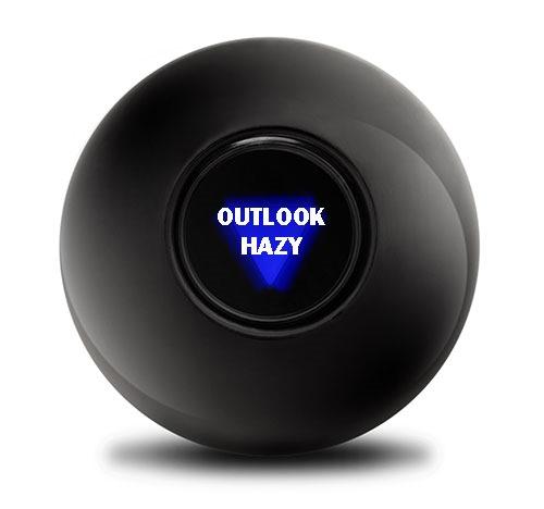 Outlook Hazy Black Ball