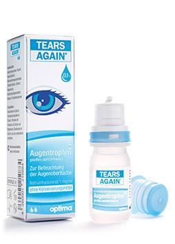 TEARS AGAIN®MD Augentropfen  Natriumhyaluronat 1 mg/ml, steril, ohne Konservierungsmittel Inhalt: 10 ml
