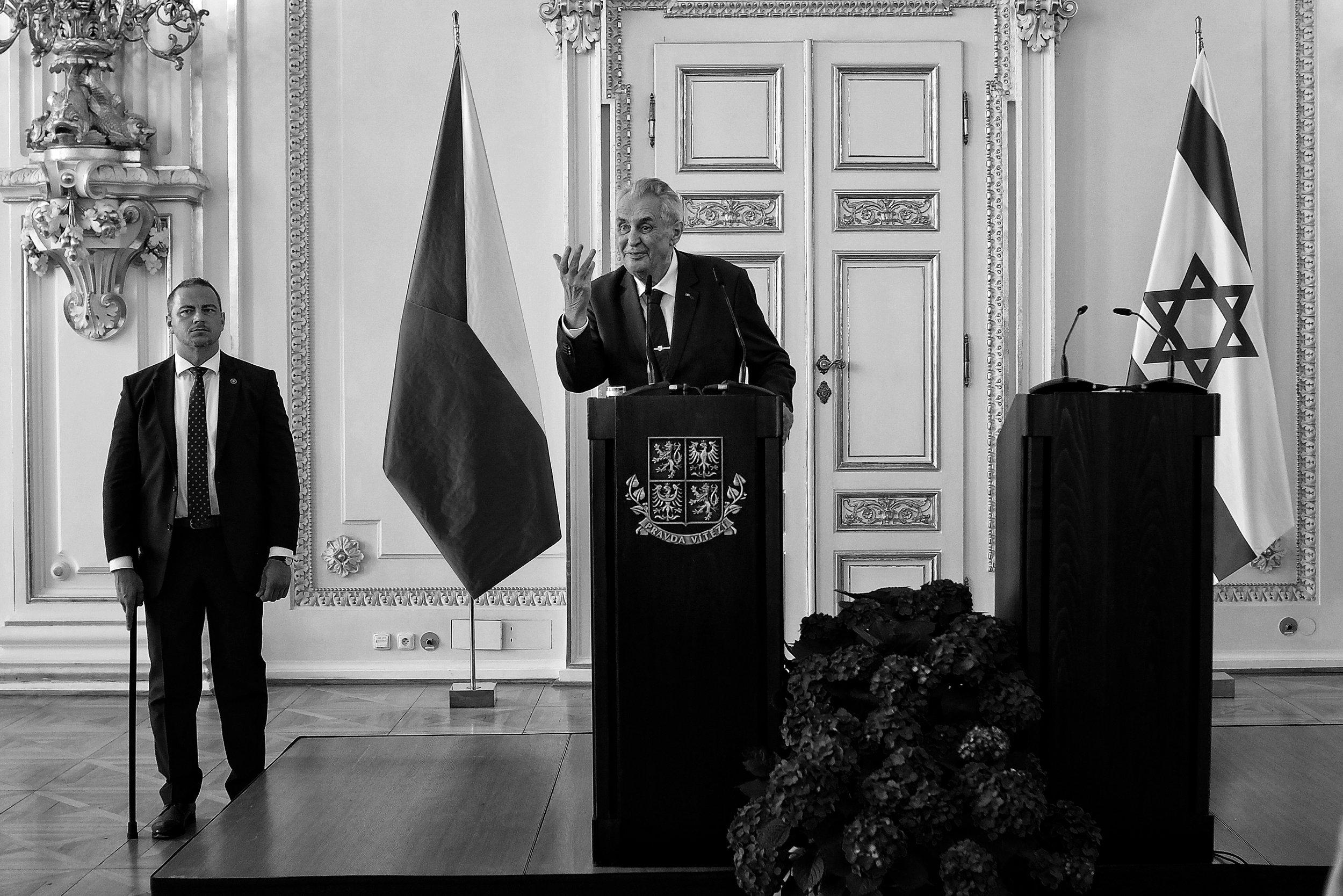 Czech president Miloš Zeman hosted Israel's 70th Independence Day celebration at the Spanish Hall of Prague Castle, 25.4.2018.