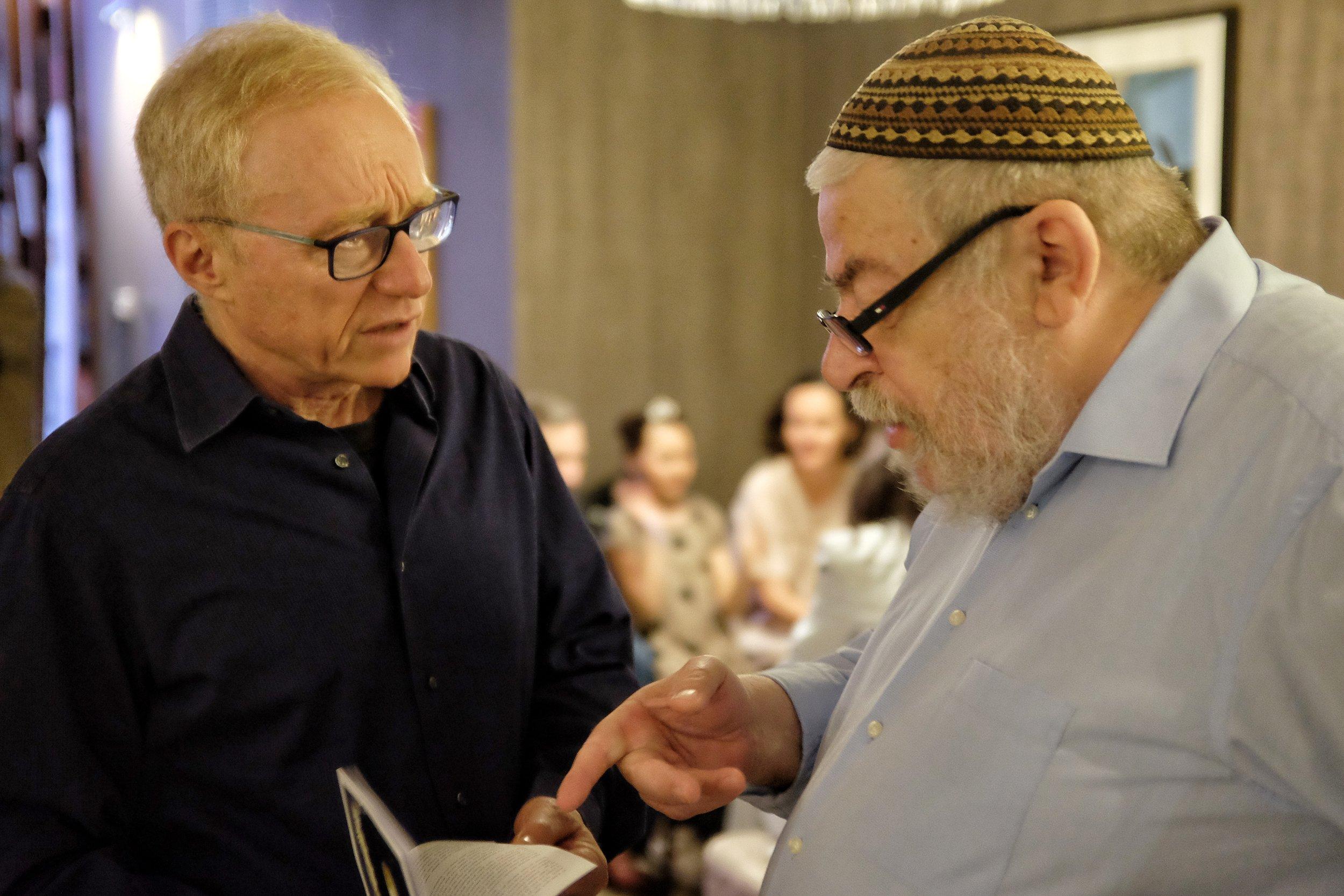 With chief rabbi, sci-fi writer, dramatist Karol Sidon.