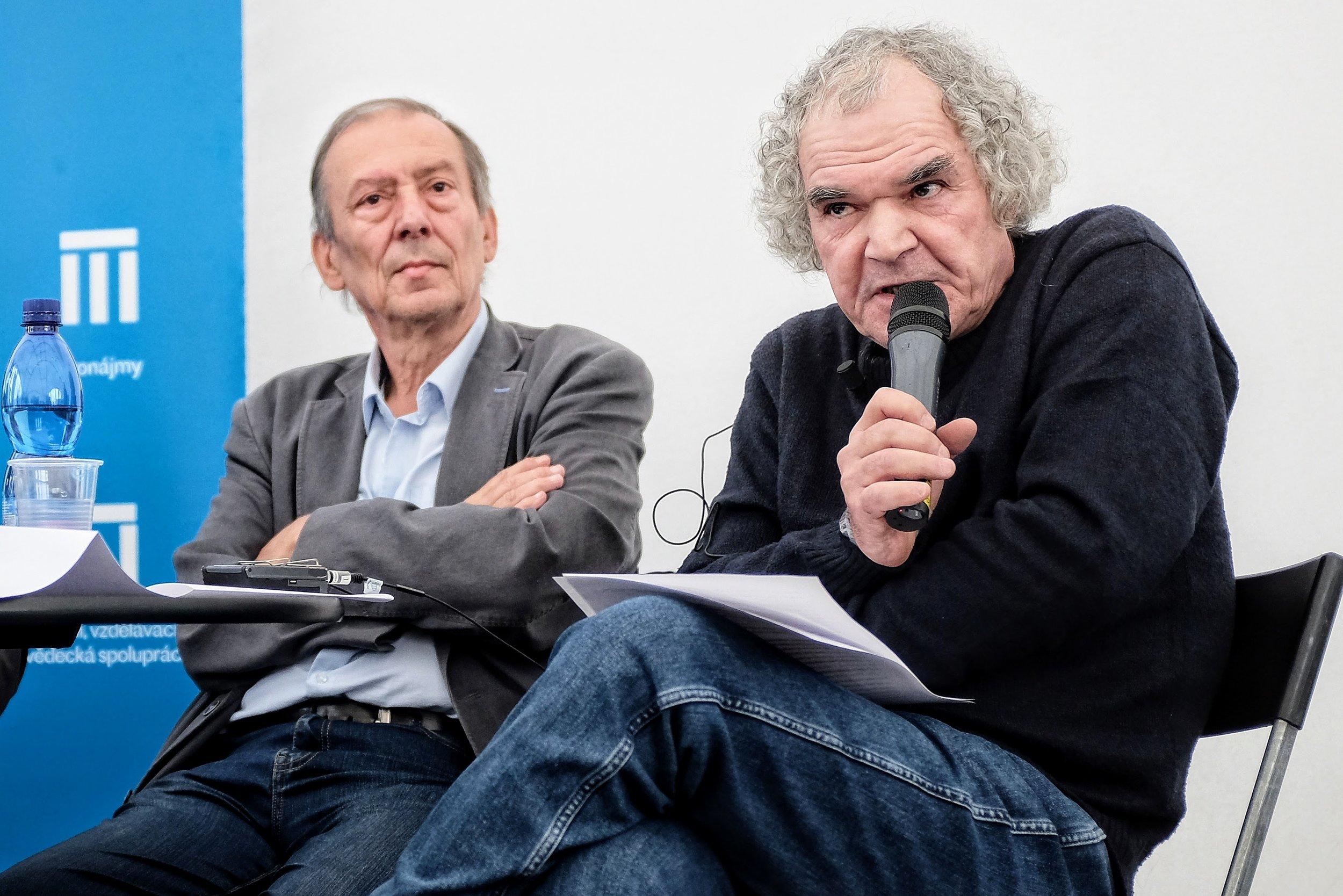 Czech author Patrik Ouředník and Jiří Pelán