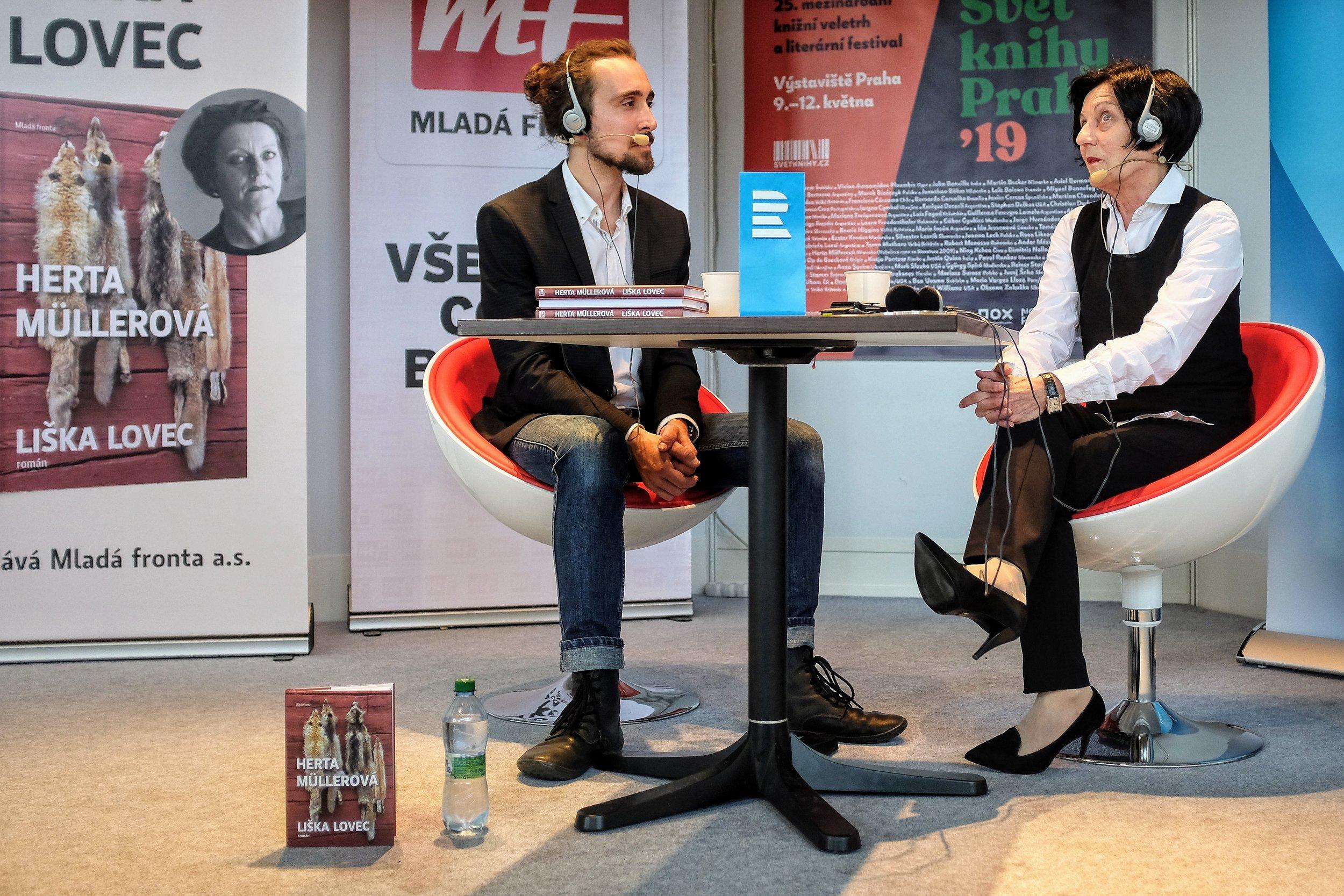 Herta Müller talk with Petr Gojda