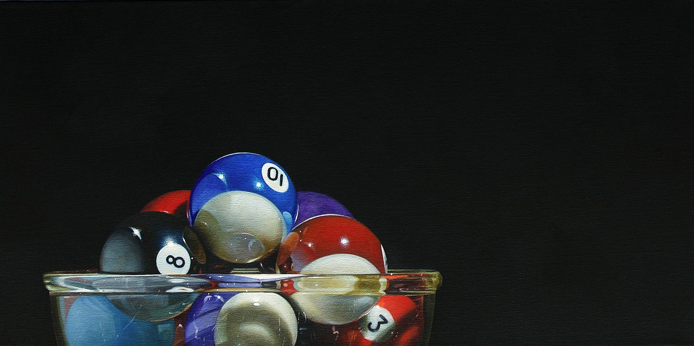 Pool Bowl | 12 x 24 | Oil on panel