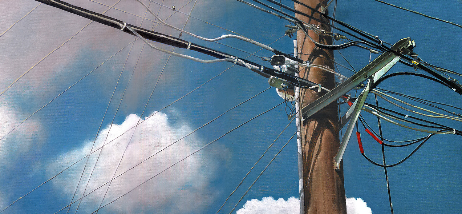 Power Pole  |  12 x 24  |  Oil on canvas