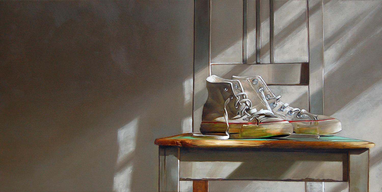 My Chuck Taylor's| 12 x 24 | Oil on canvas