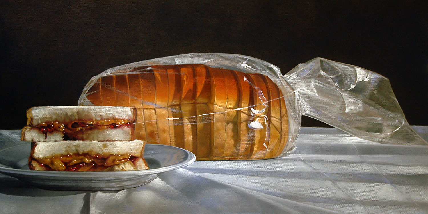 PB&J with Loaf | 12 x 24 | Oil on canvas