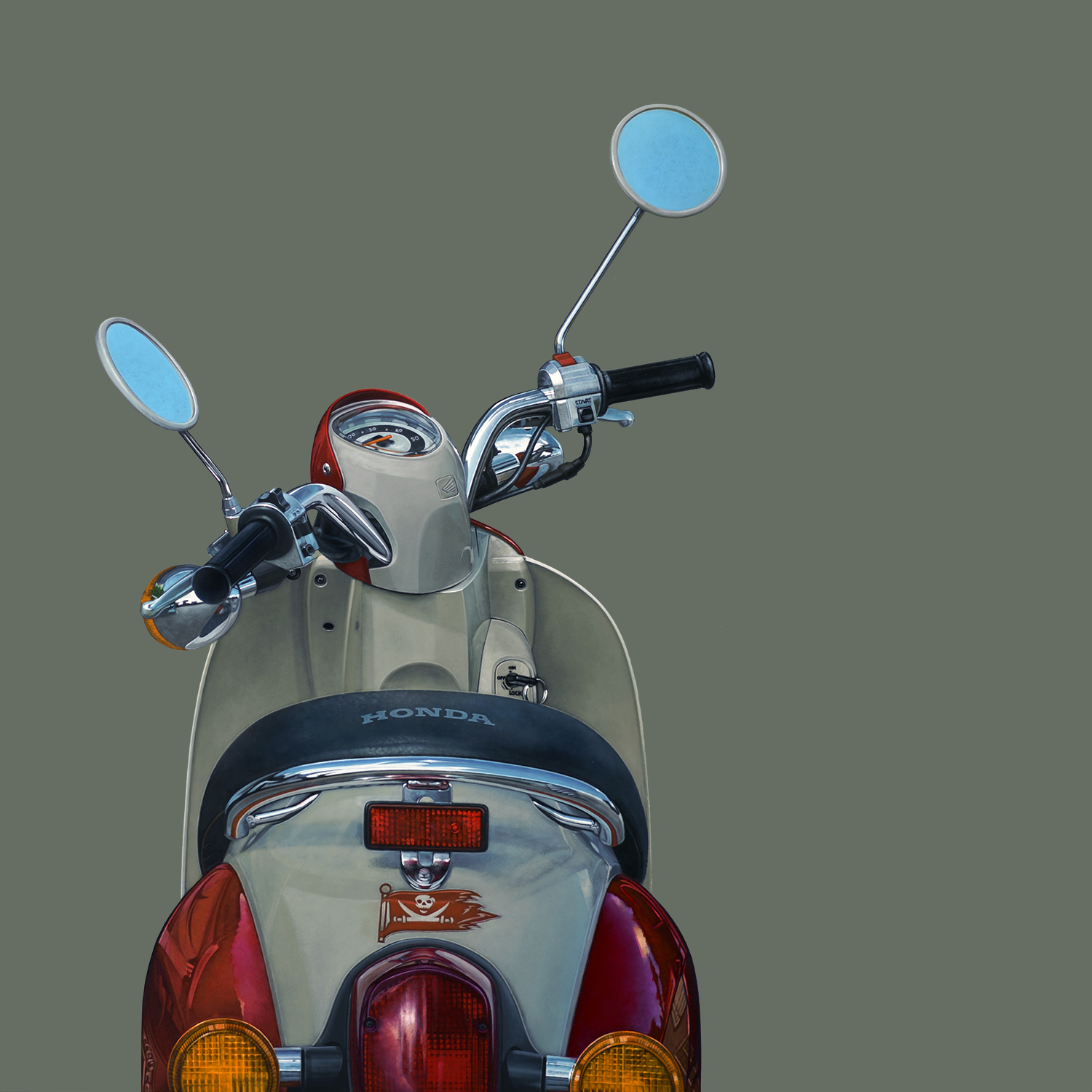 Honda Metropolitan  |  24 x 24  |  Oil on panel
