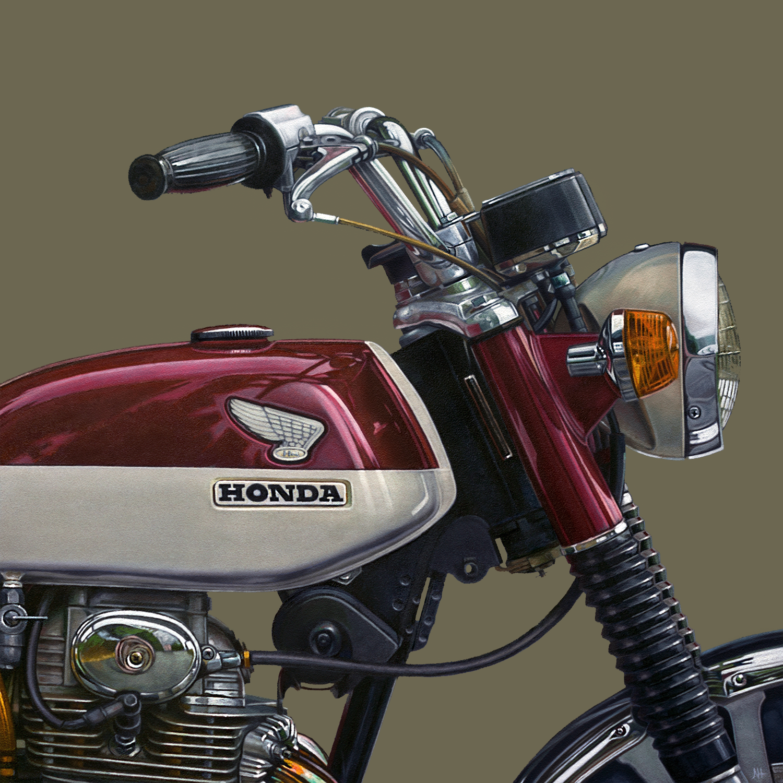 Honda: Fore | 12 x 12 | Oil on panel