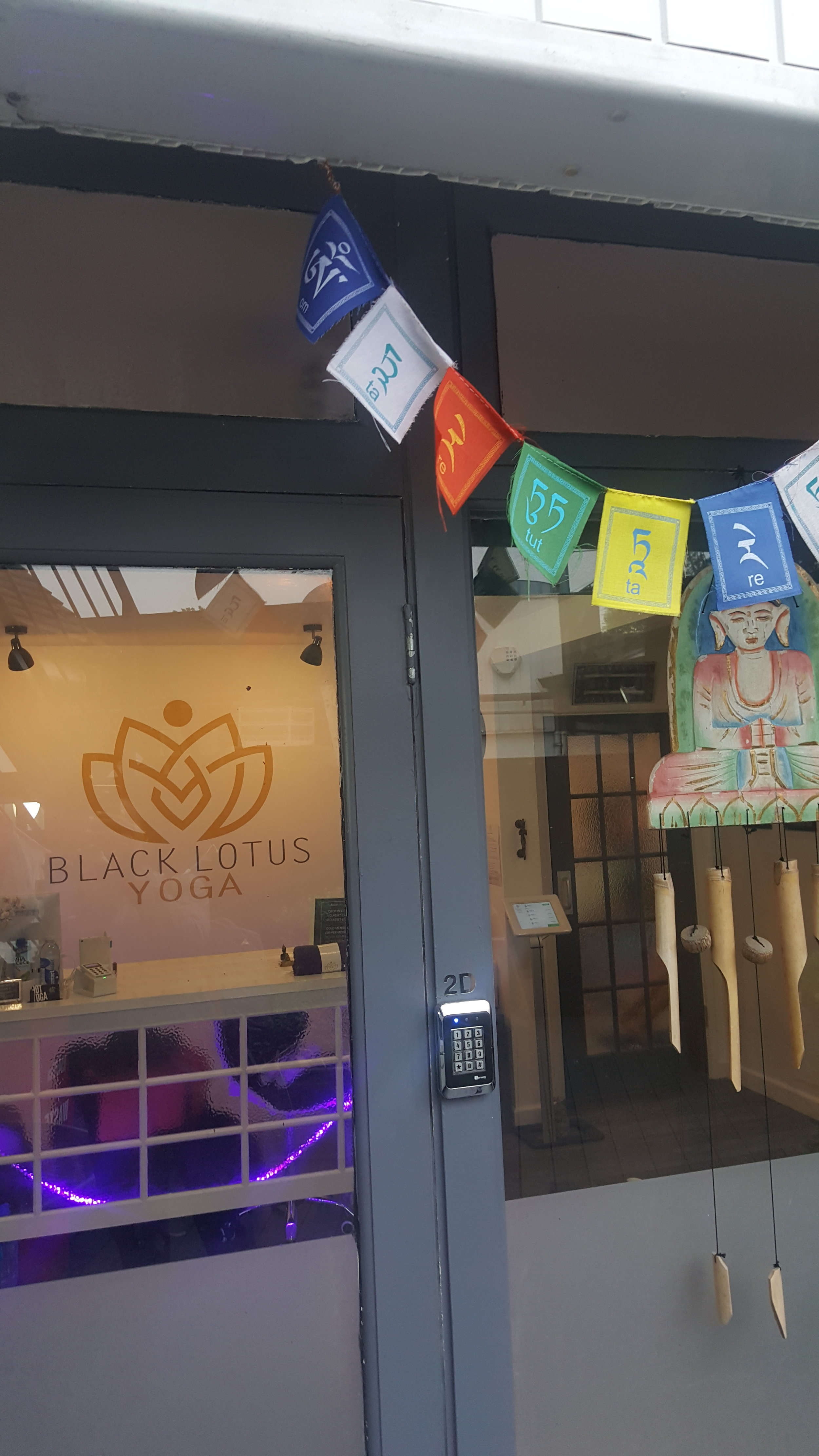 The Black Lotus studio has a great energy, is very welcoming and is flooded with natural light.
