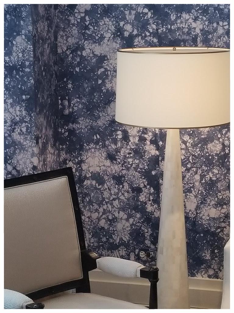 FALL MARKET @DDB - FALL MARKET @DDB showed our Nima Floor Lamp along side the fabulous tie dye wallpaper from @mayaromaoff at @ferrellmittman