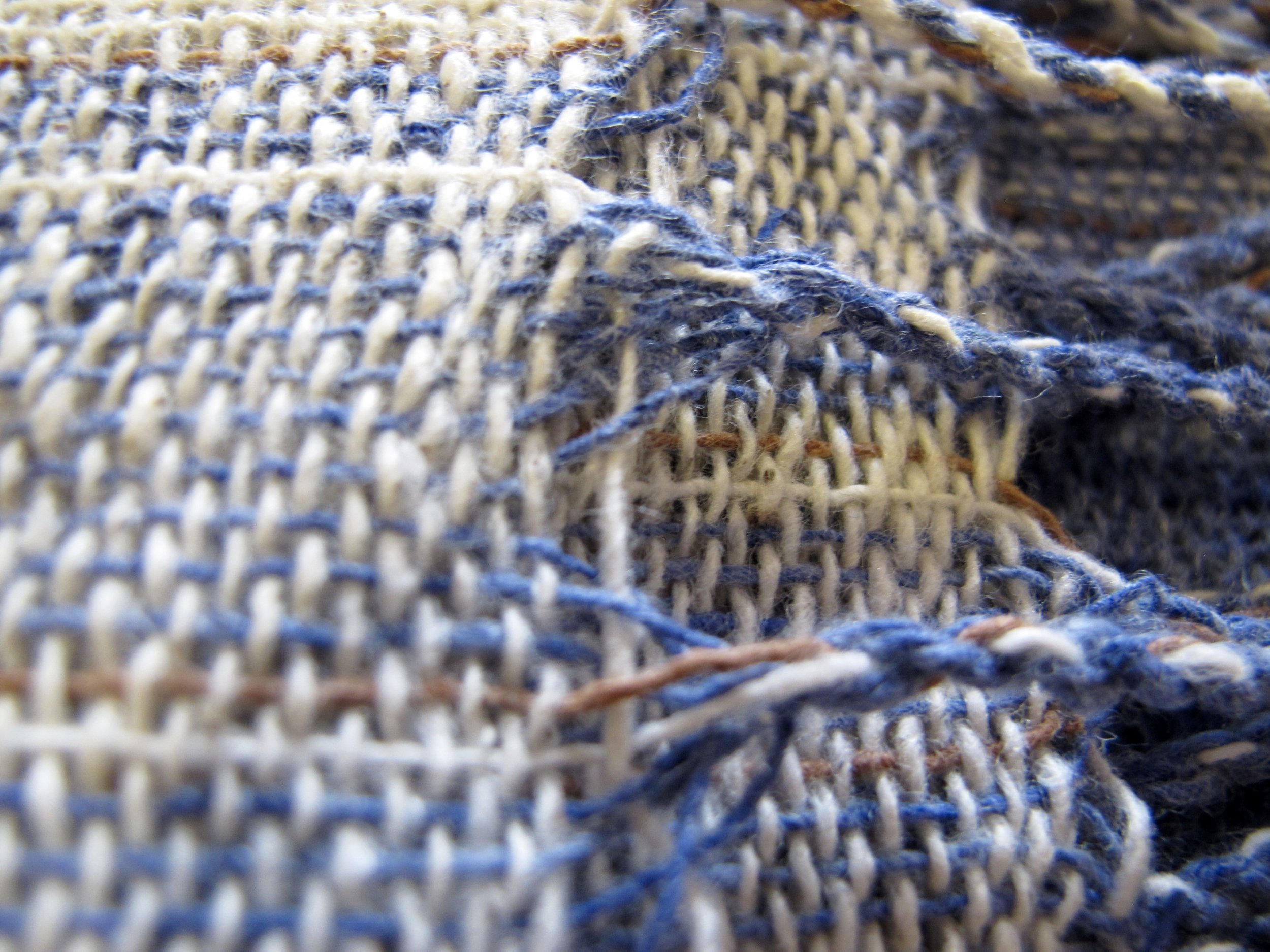 Detail of Chaban and Noy's woven scarves