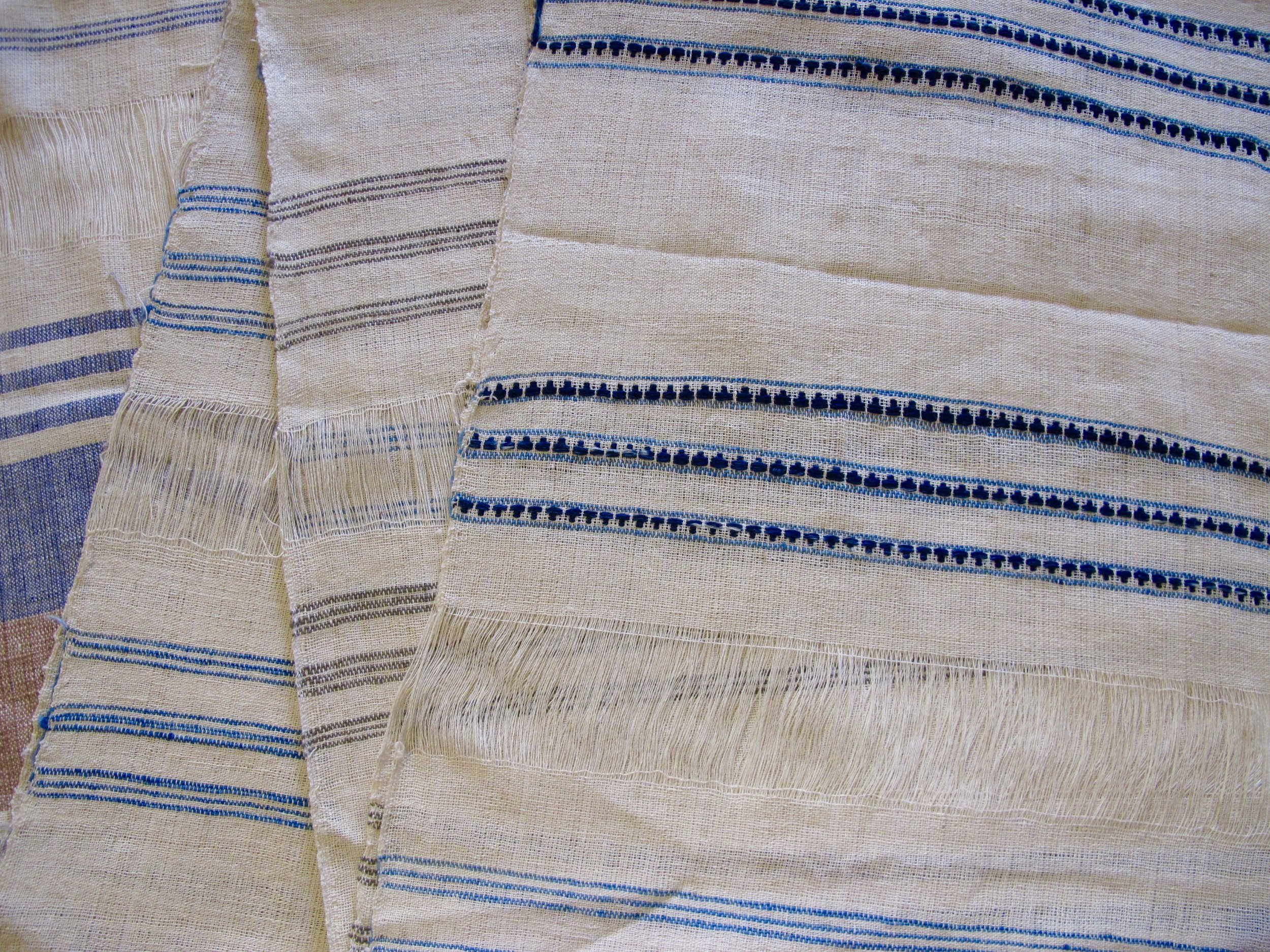 Detail of Panya's napkin designs