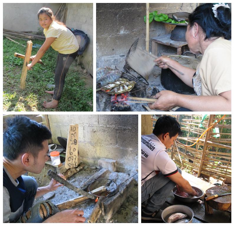 A family affair in preparing lunch