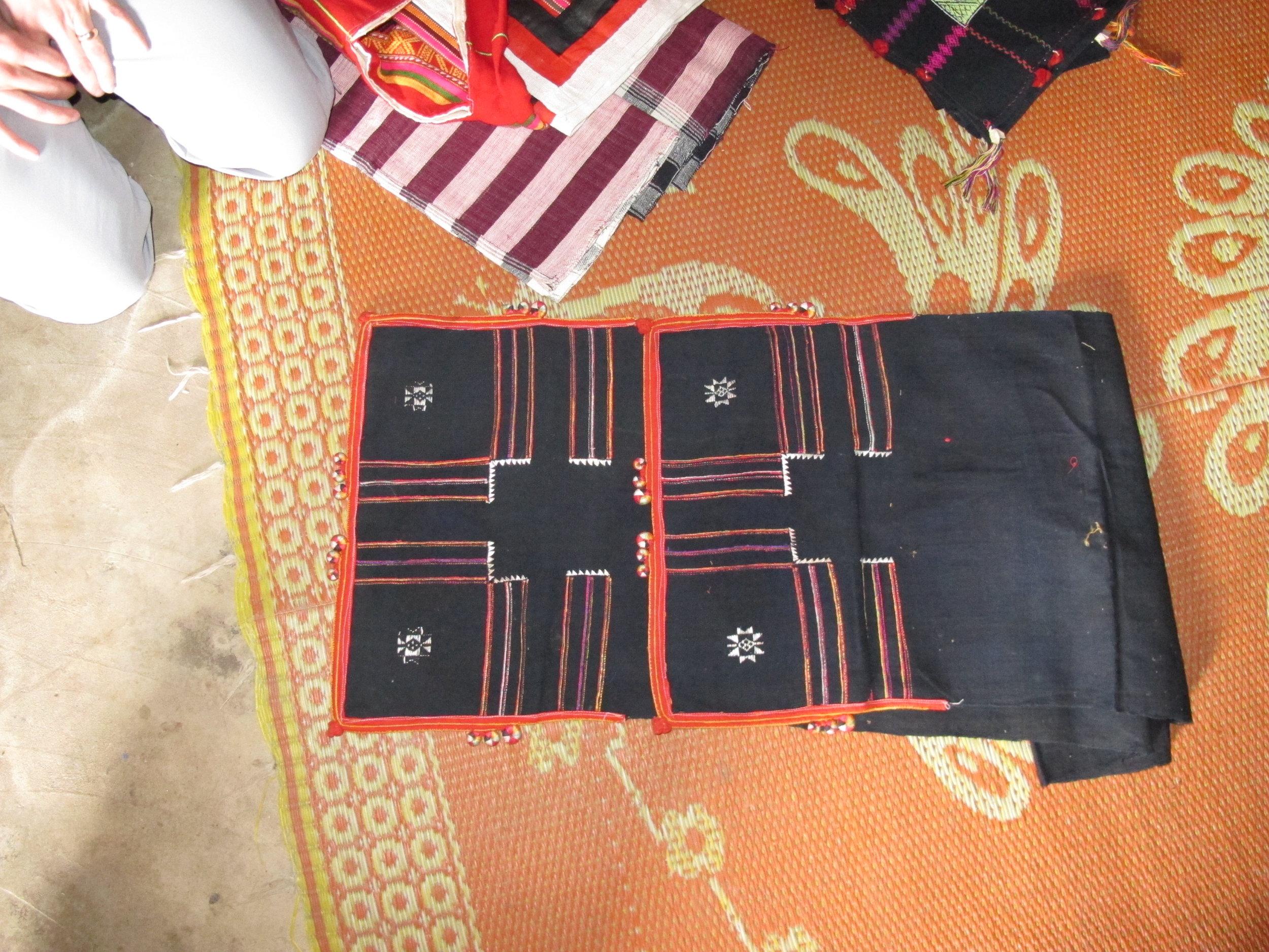 Traditional Tai Dam headscarf handmade by Lasoy