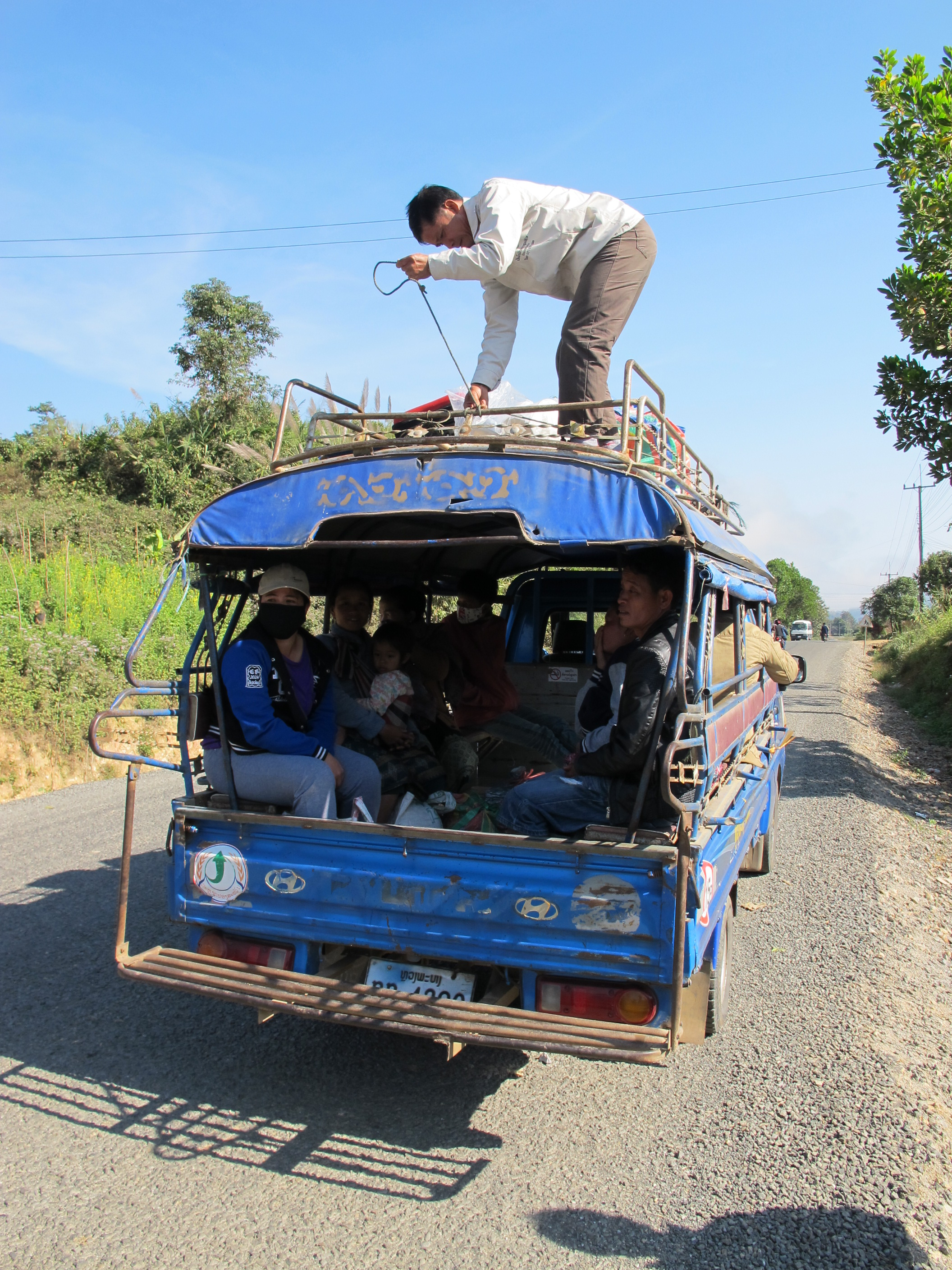 Our transport for the two hour trip to the village