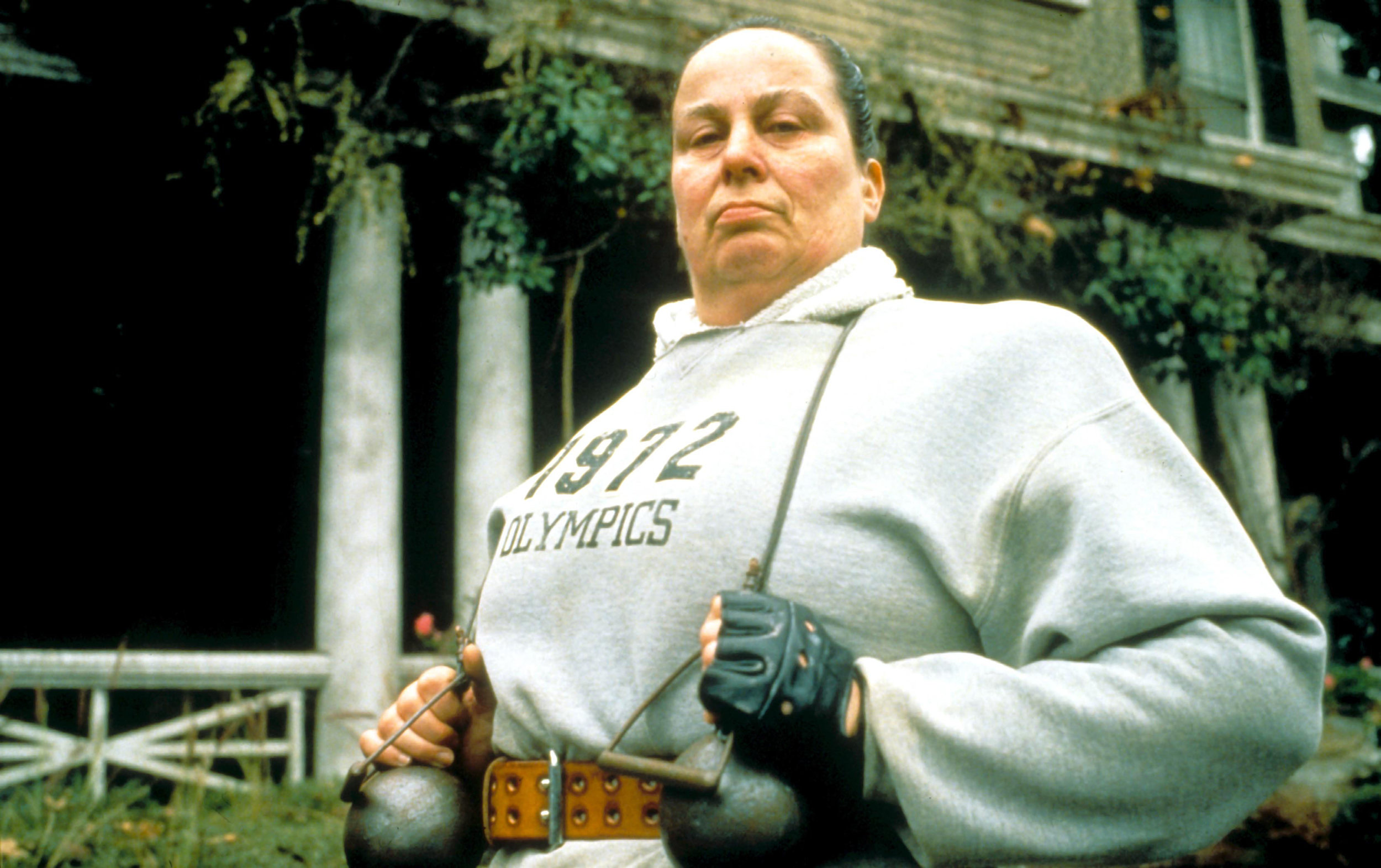 As Miss Trunchbull in the 1996 film version of Matilda