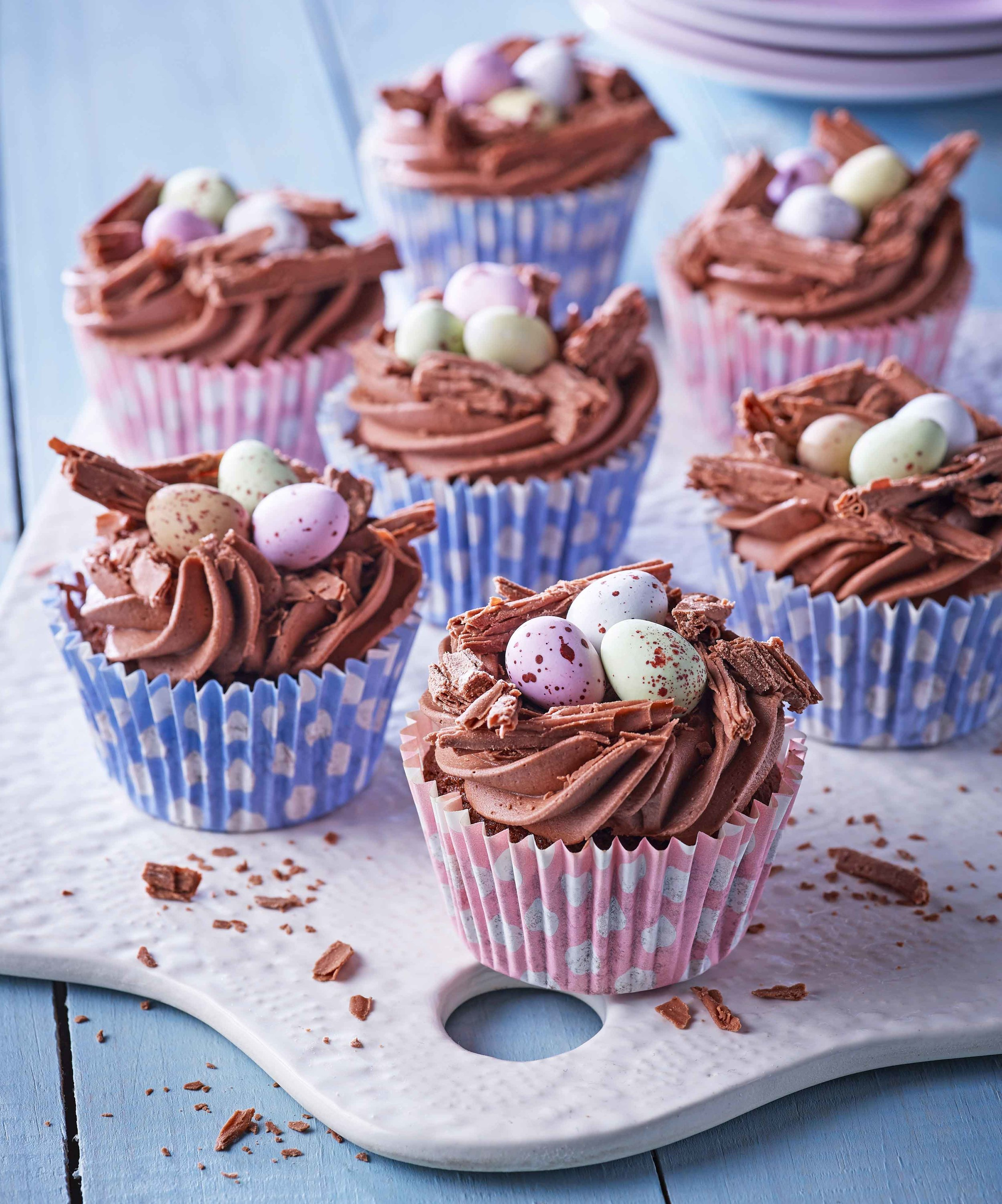 easter-chocolate-nest-cupcakes