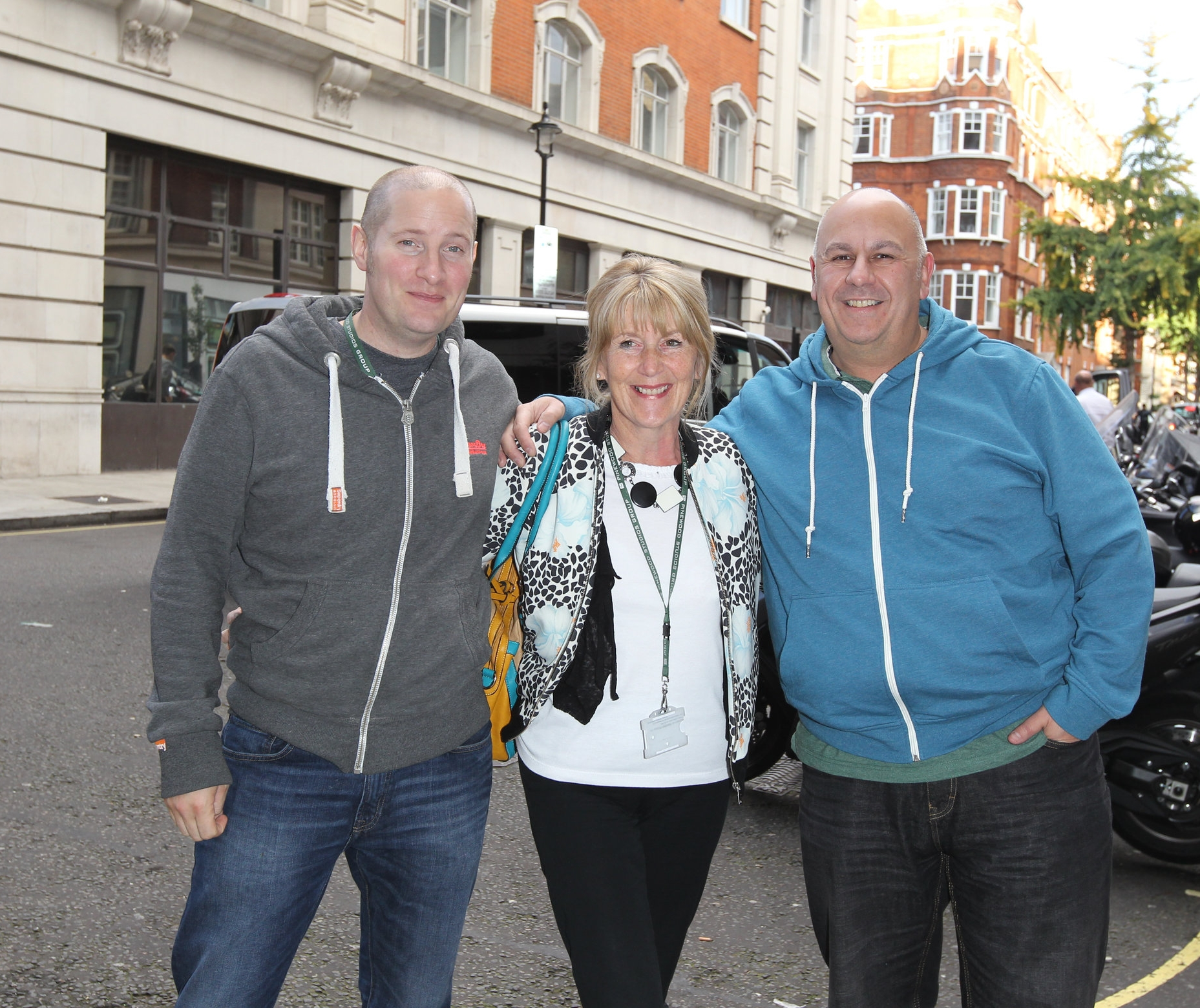 Nancy with her fellow Bake Off finalists Luis Troyano and Richard Burr