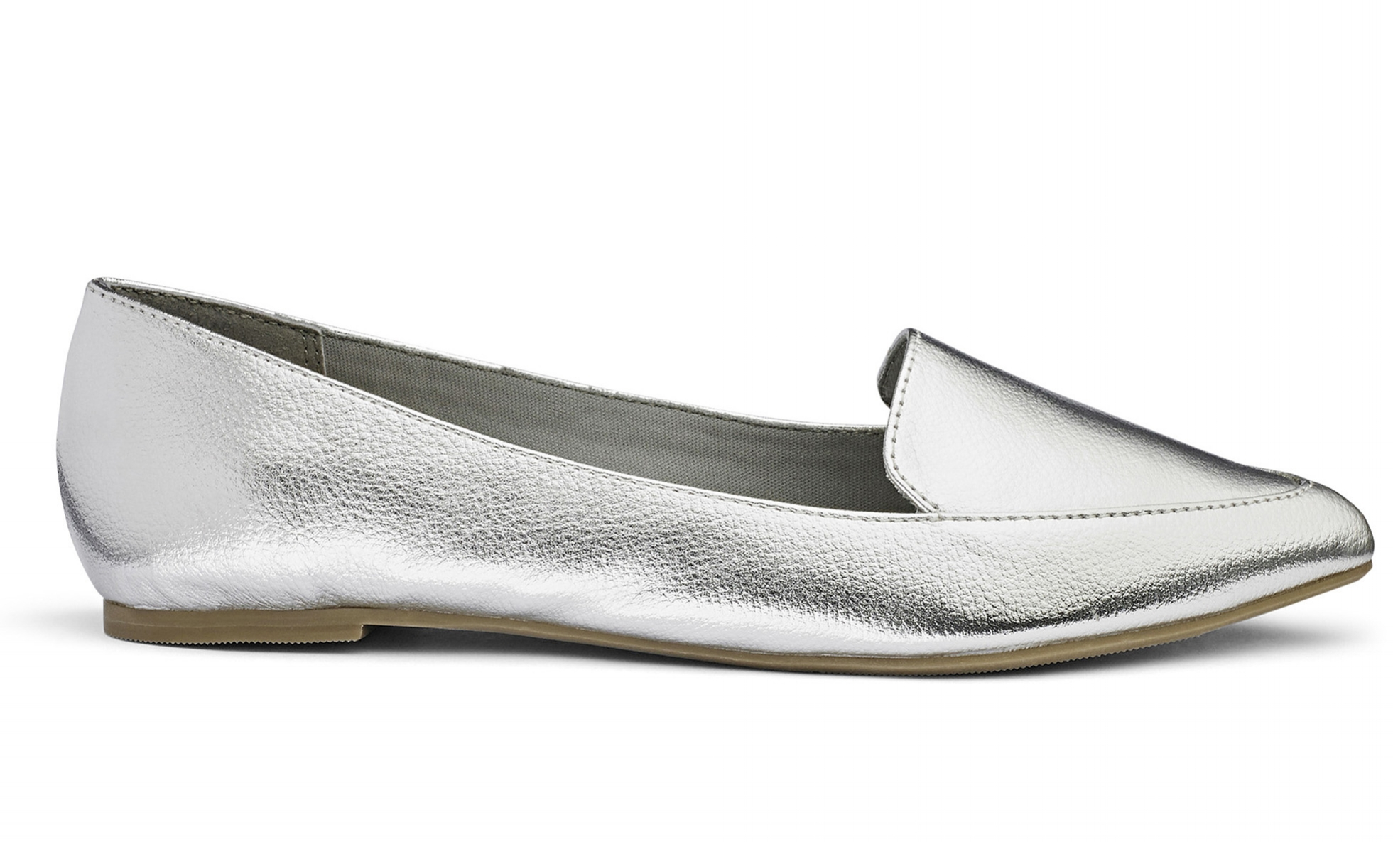 9.  Silver loafers, £15 Sole Diva, JD Williams