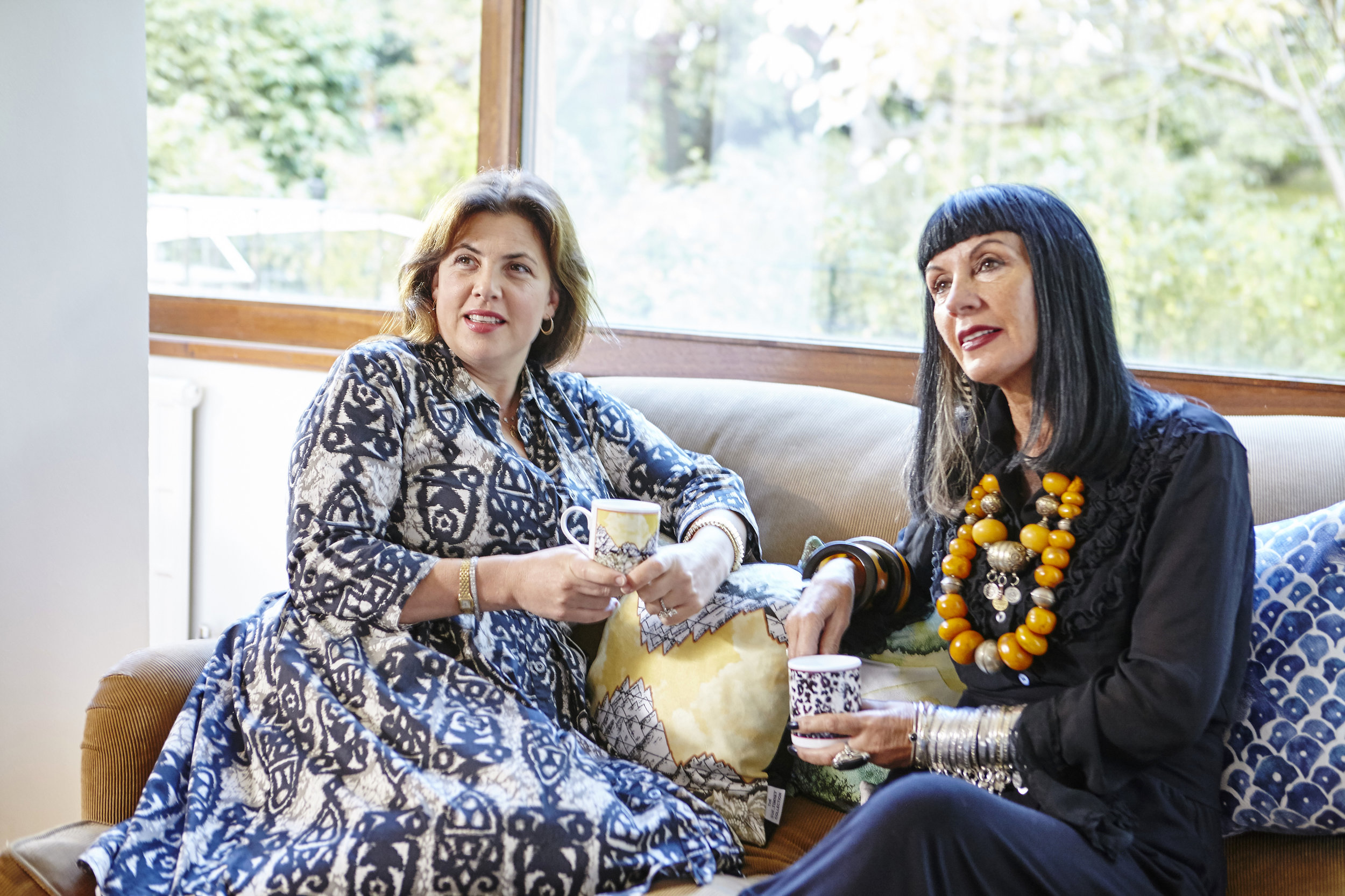 Fan Kirsty Allsopp with the designer Sue