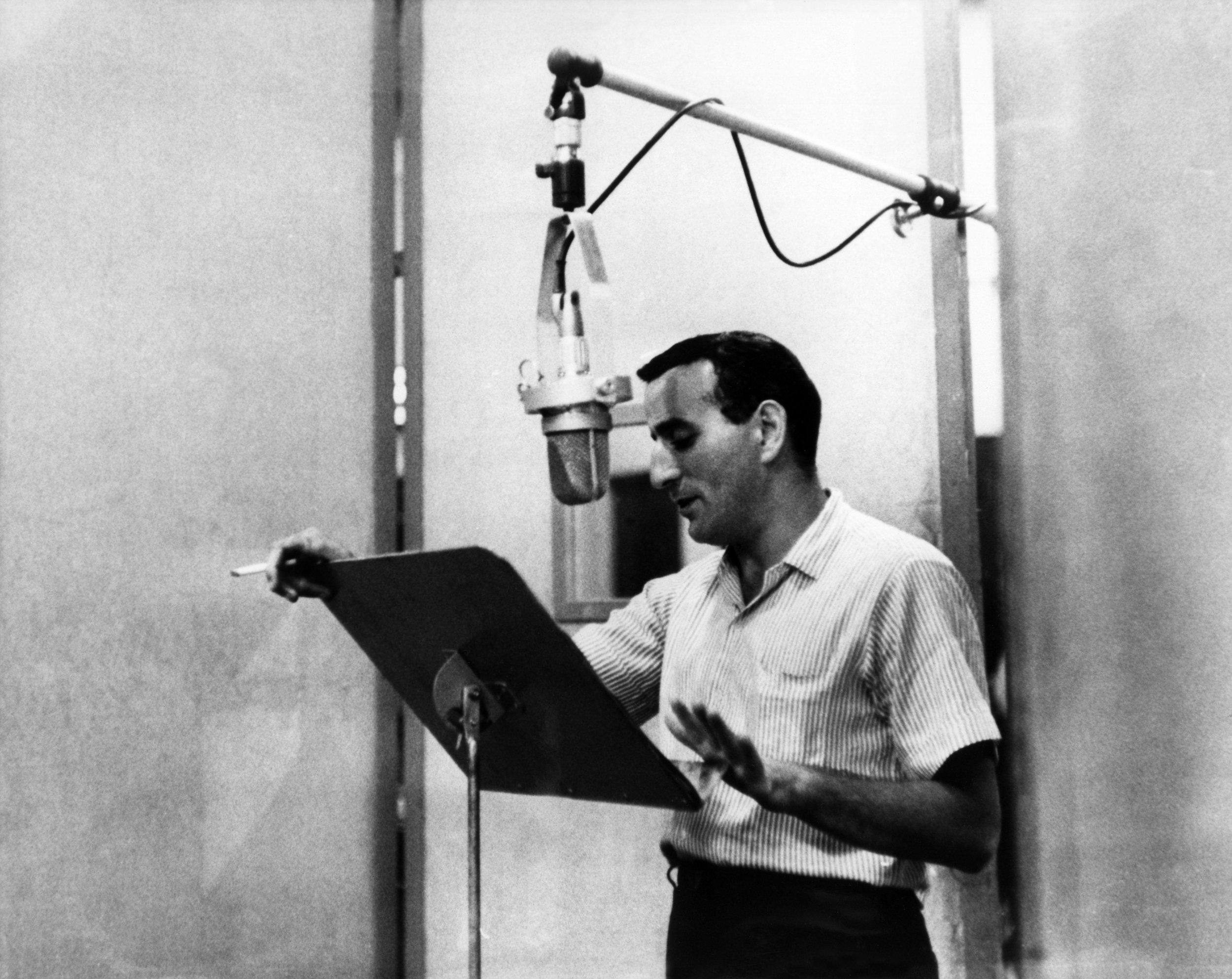 Bradley's idol, Tony Bennett, recording in about 1970