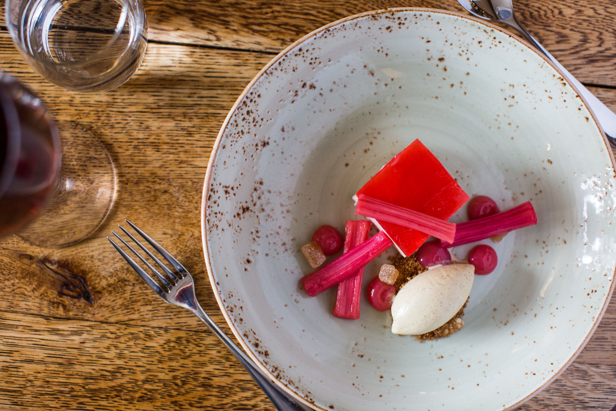 Dessert at The Kings Hotel Chipping Campden