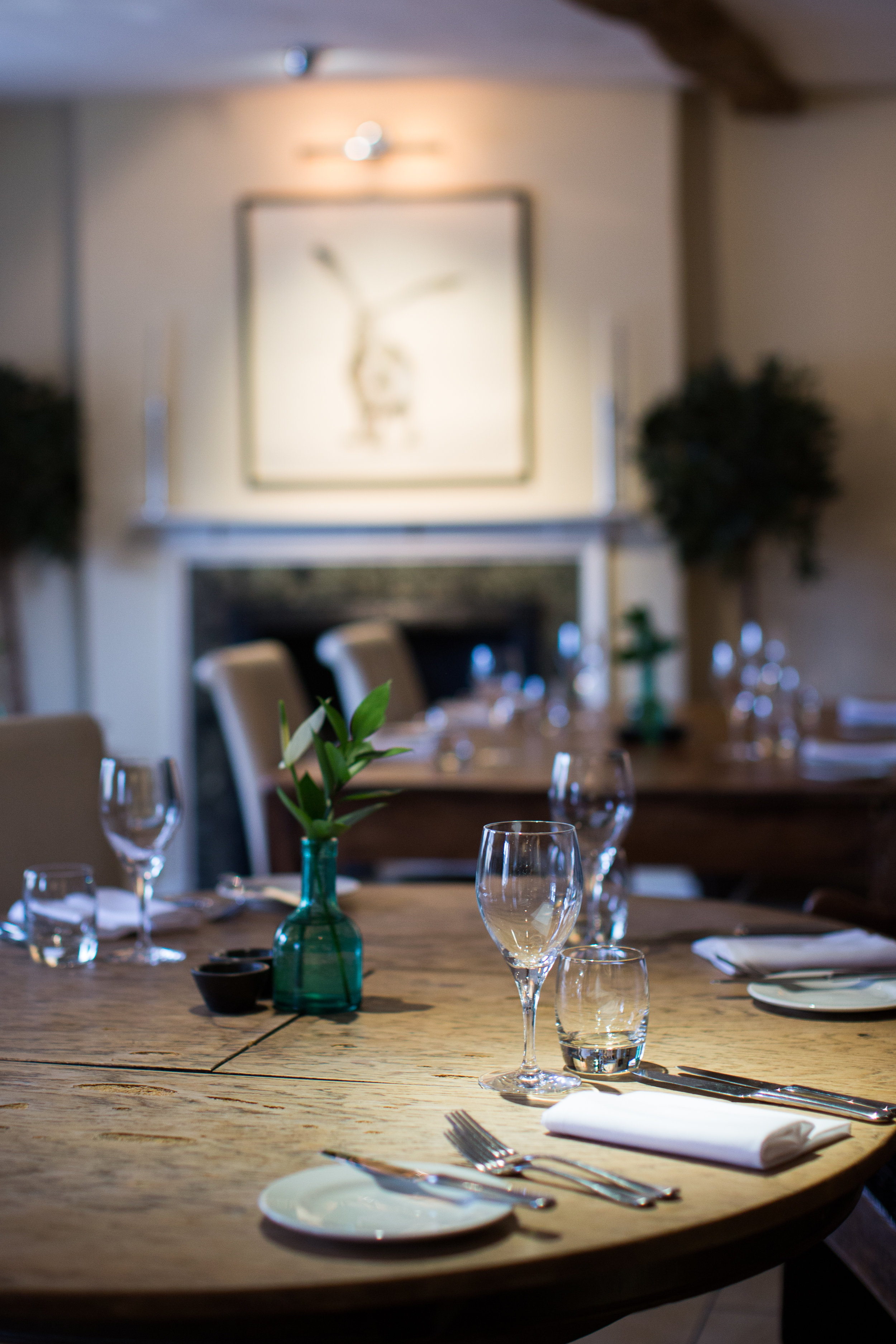 The restaurant at the Kings Hotel Chipping Campden