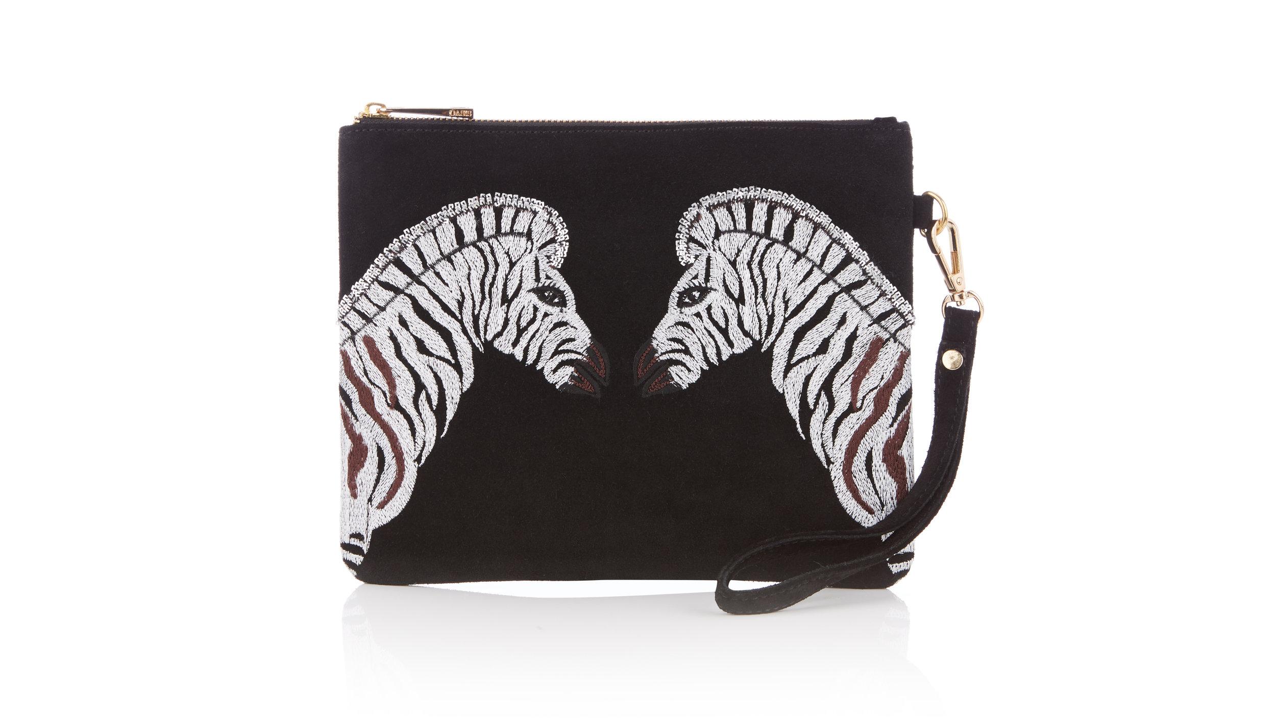 zebra-clutch-bag-black-oasis-london-zoo-zsl-animal